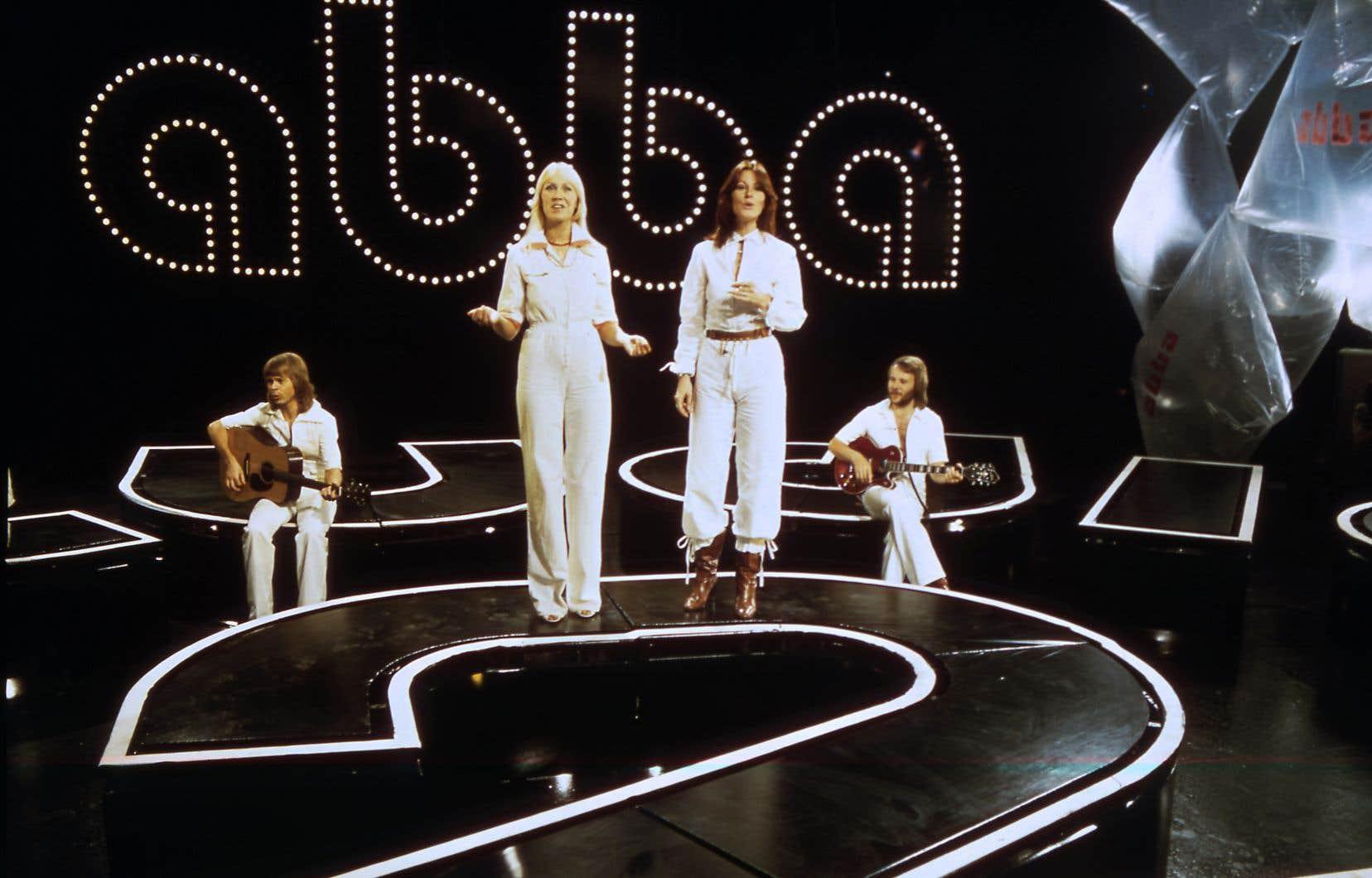 Les membres du légendaire groupe en 1976