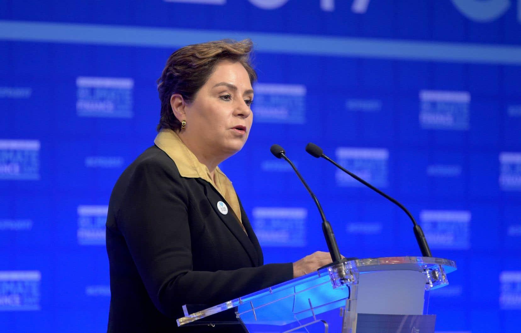 La responsable climat de l'ONU, Patricia Espinosa