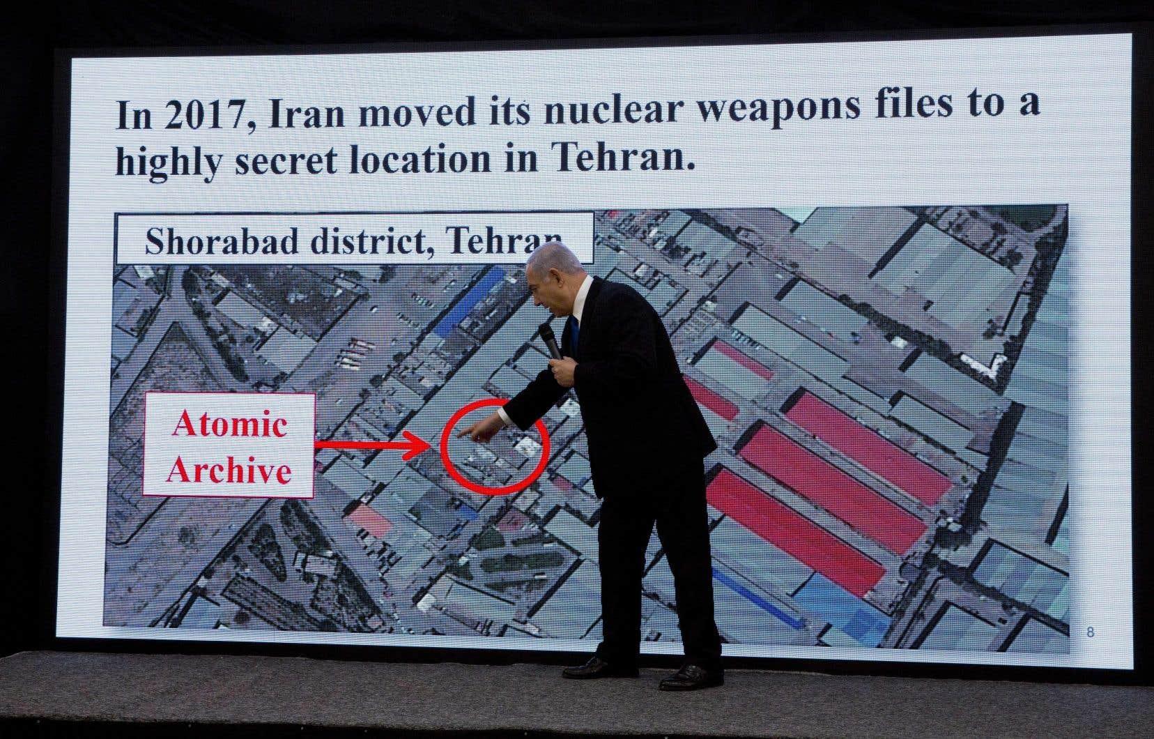 M.Nétanyahou a déclaré lundi qu'il partagerait avec d'autres pays et l'AIEA les données contenues dans des dizaines de milliers de documents originaux iraniens.