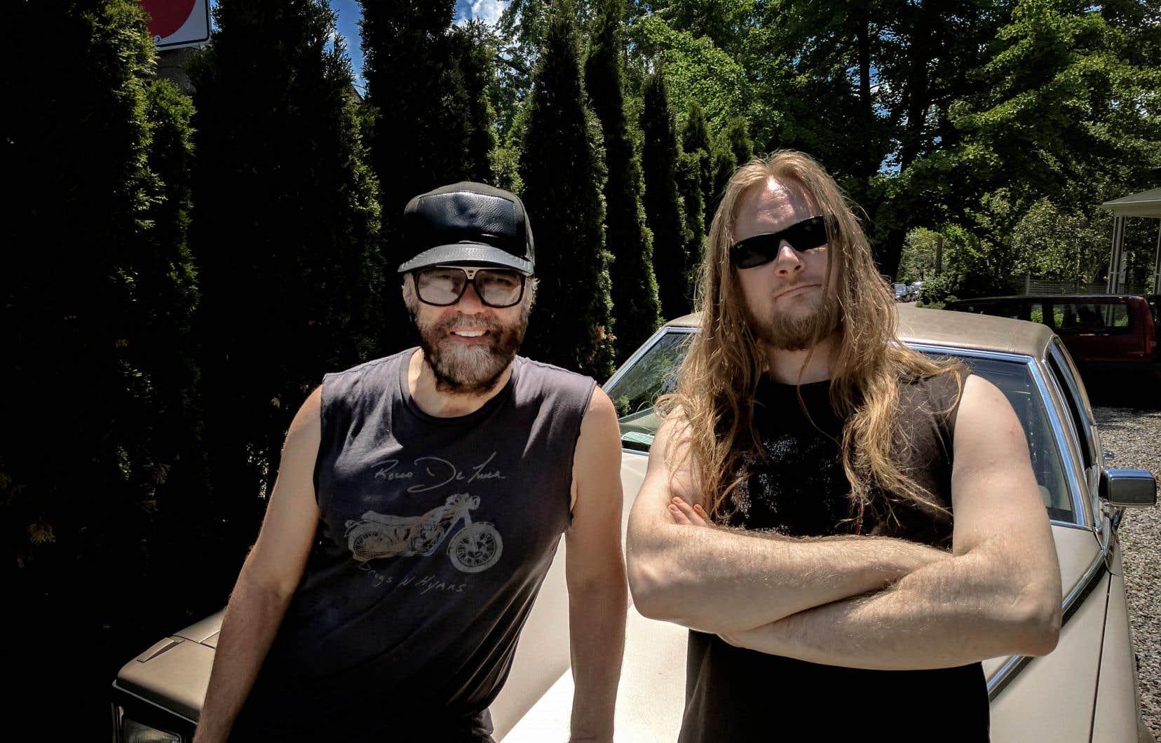 Daniel Lanois, à gauche, et Aaron Funk, alias Venetian Snares, se sont rencontrés il y a trois ans.