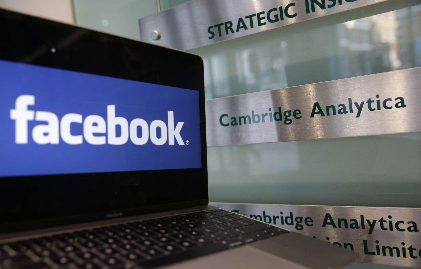 Cambridge Analytica est accusée d'avoir collecté et exploité sans leur consentement les données personnelles de près de 90millions d'utilisateurs de Facebook à des fins politiques.