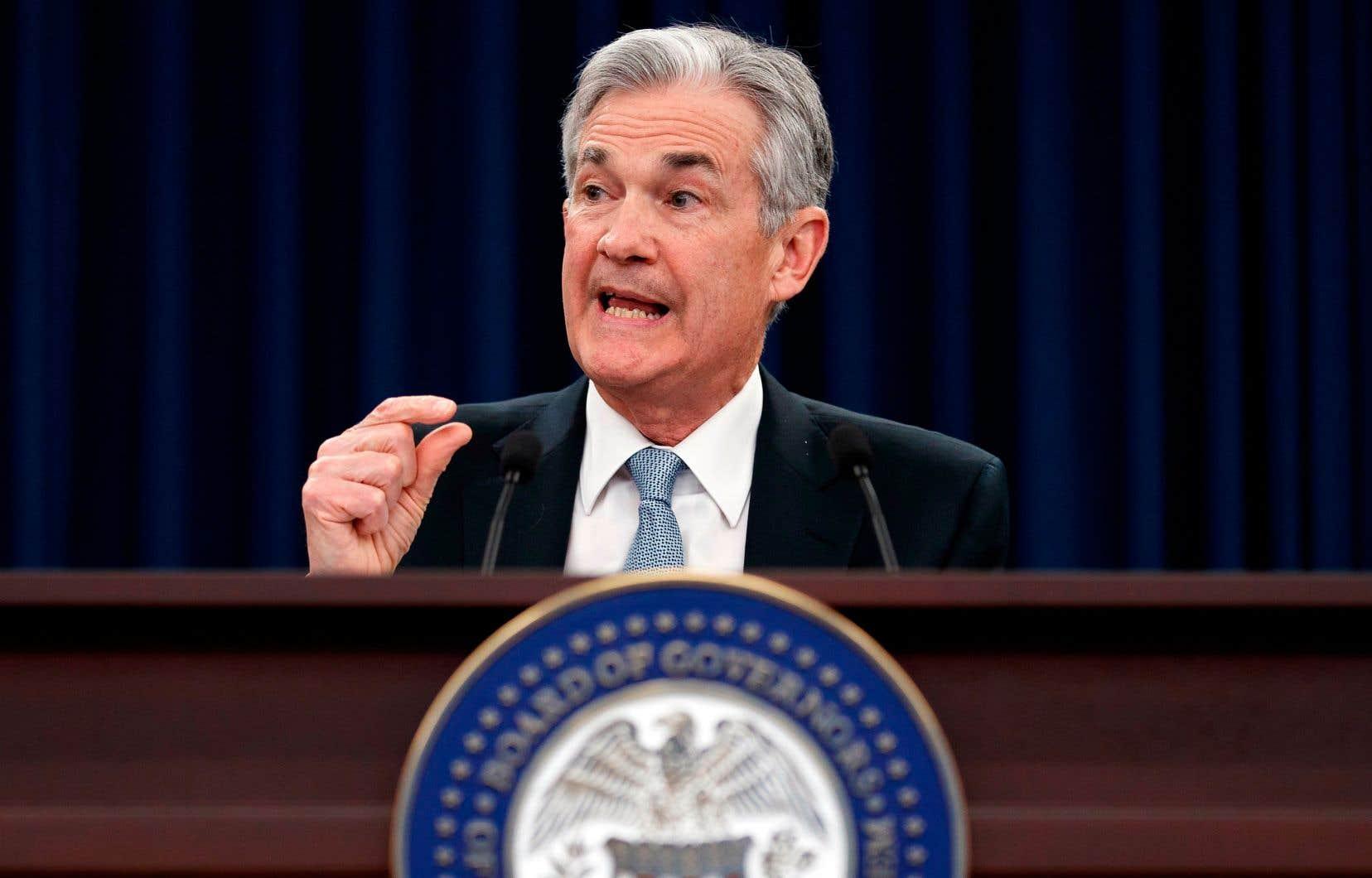 L'évaluation que fait la Réserve fédérale, dirigée par Jerome Powell, de l'économie reste très positive, indiquant que le marché de l'emploi continue d'être dynamique et que l'activité a progressé à un «rythme modéré».