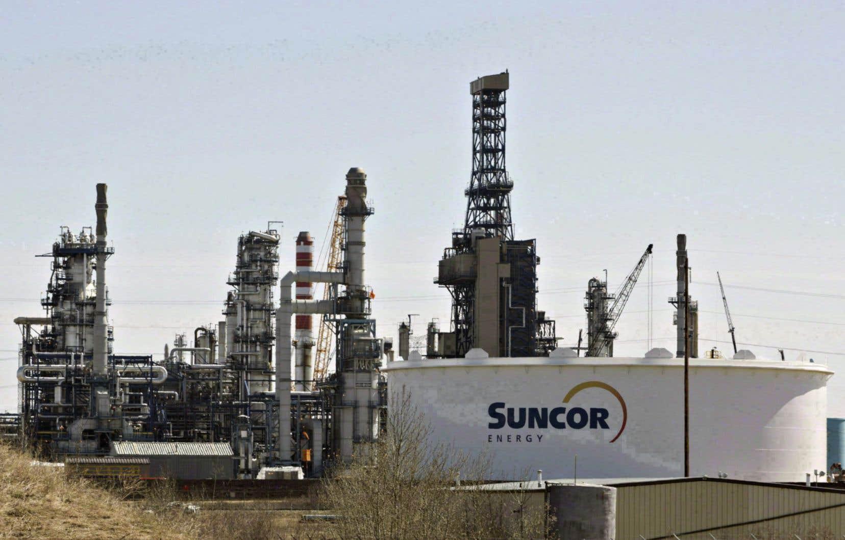 La raffinerie de Suncor à Edmonton