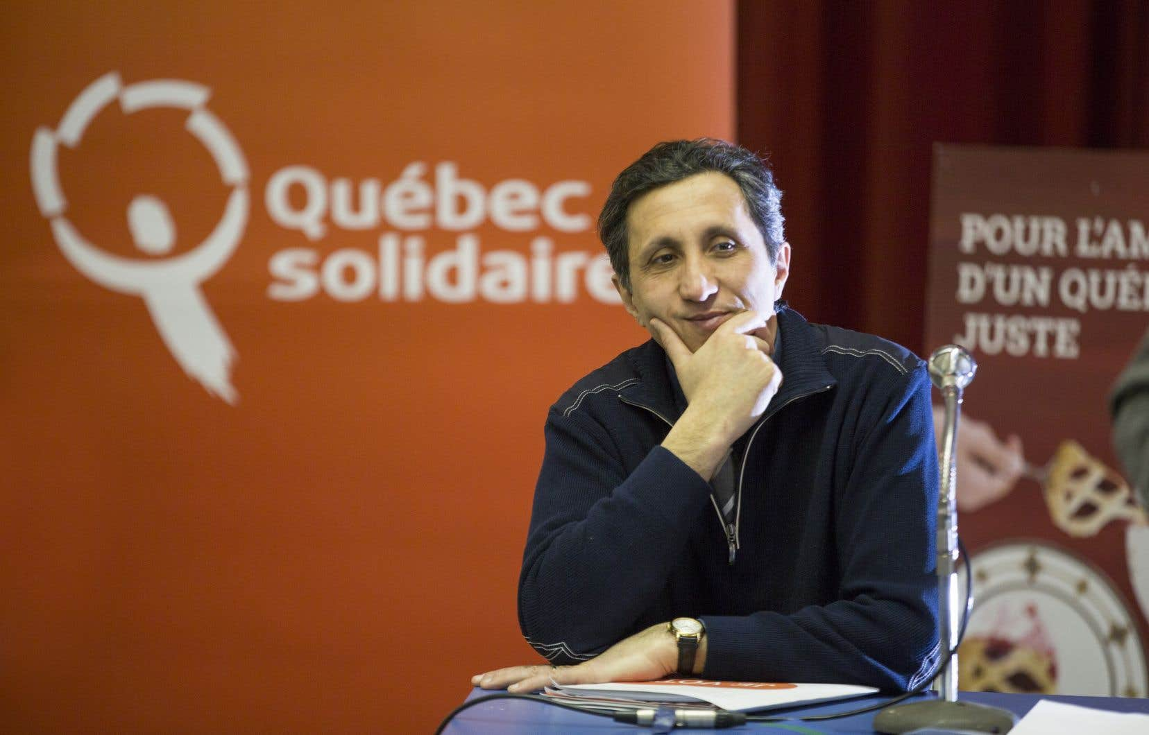 Le député de Mercier, Amir Khadir, de Québec solidaire