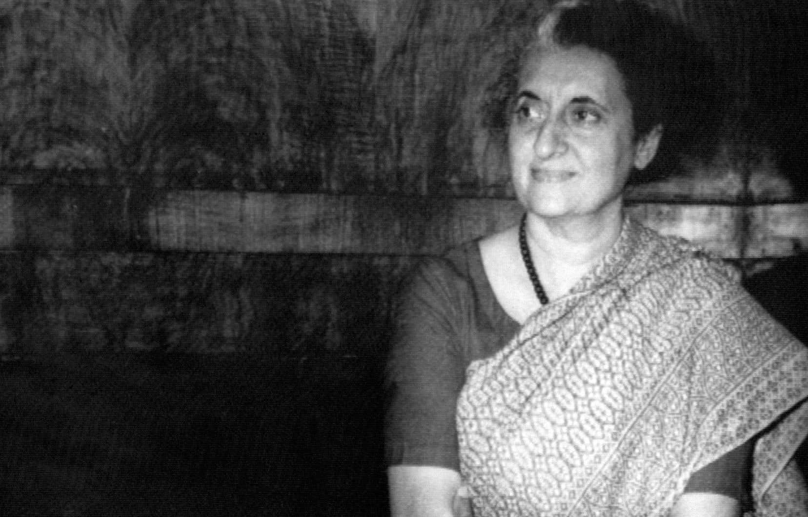 Indira Gandhi à New Dehli en 1973