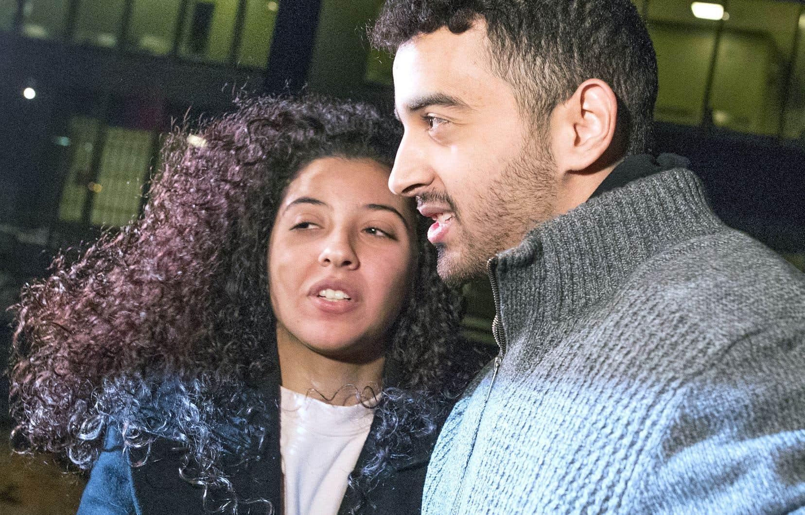 Sabrine Djermane et El Madhi Jamali ont été acquittés d'accusations de terrorisme en décembre.