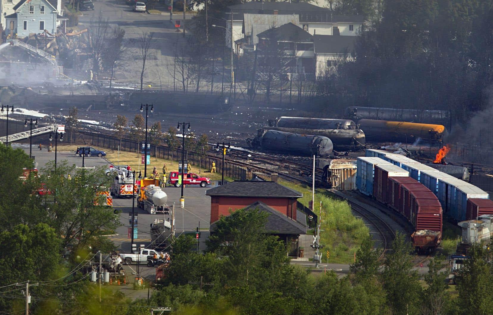 La tragédie avait été causée par un train transportant du pétrole brut qui a déraillé au petit matin du 6juillet 2013.