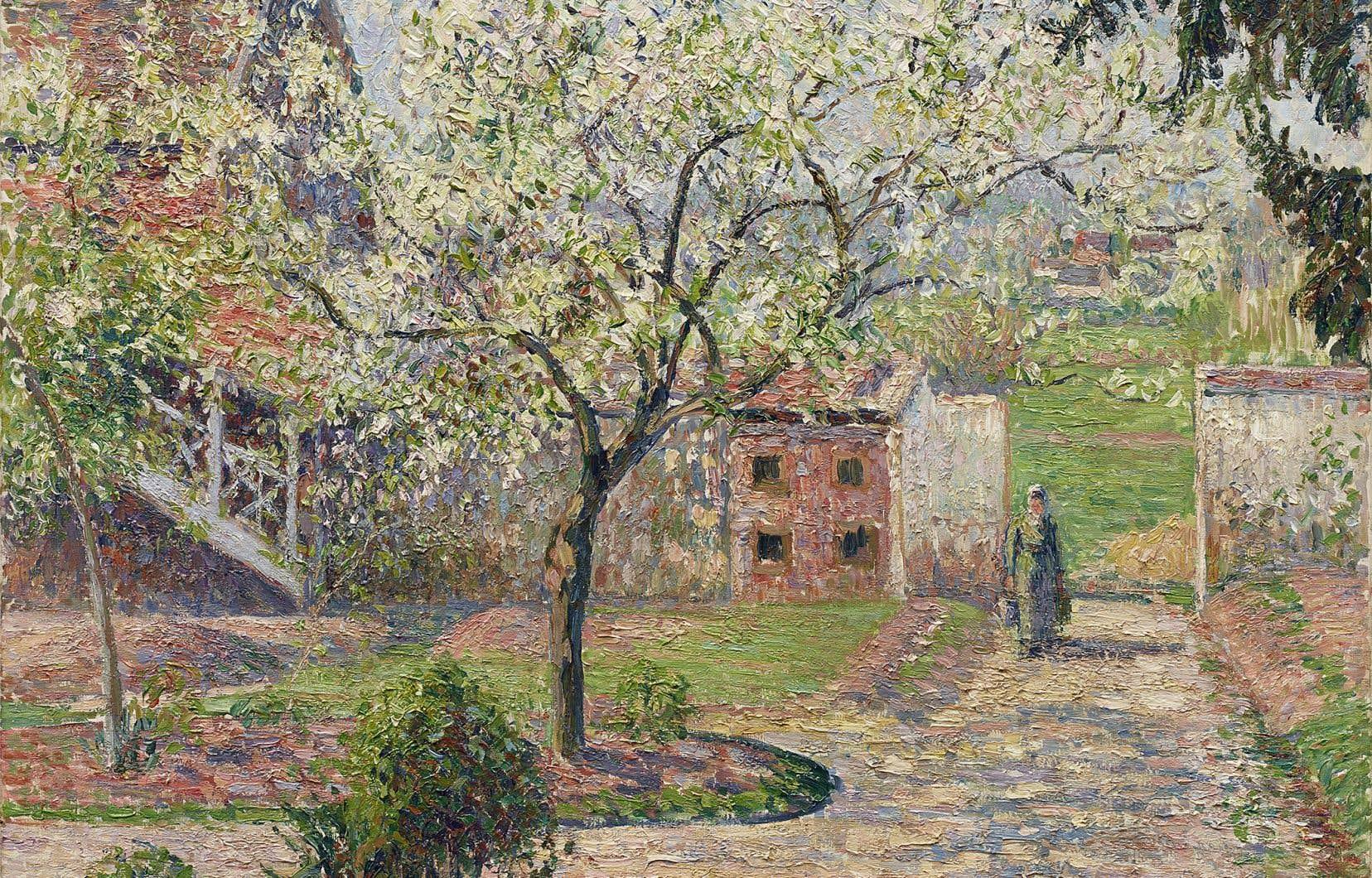 Camille Pissaro, «Pruniers en fleur à Éragny» (1894)