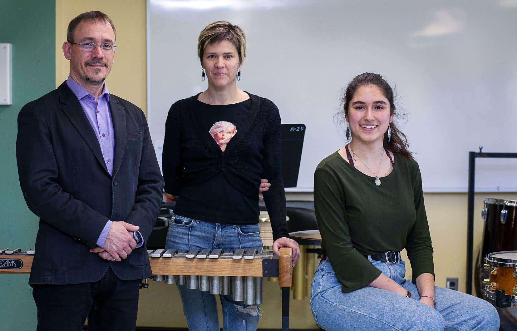 Éric Levasseur,Émilie Laforest et Kaïla Stephanos partagent un même rêve: que les élèves en musique disposent d'installations adéquates pour pratiquer leur art.