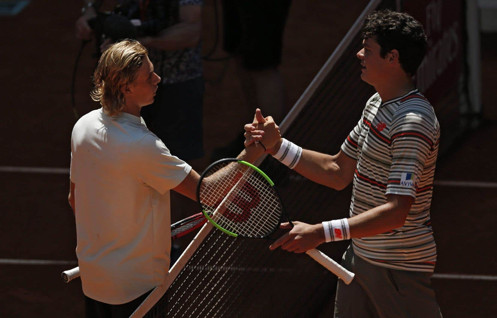C'était la première fois que Shapovalov et Raonic s'affrontaient sur le circuit de l'ATP.