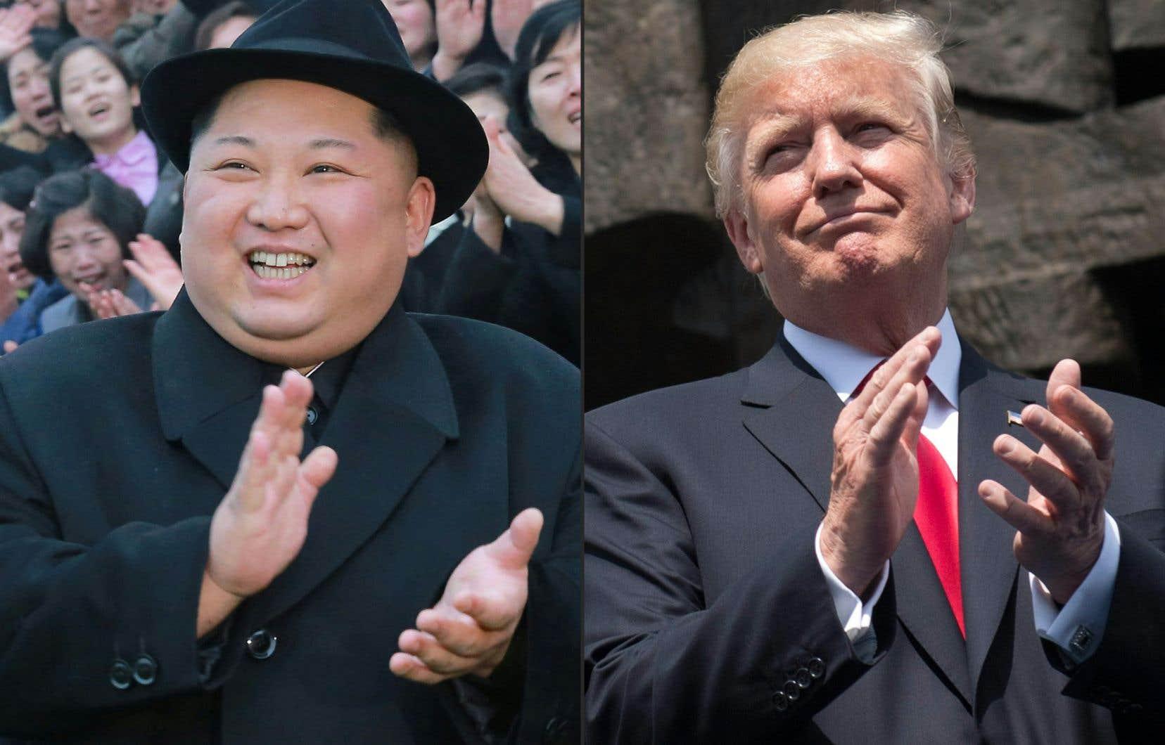 Le leader nord-coréen, Kim Jong-un, et le président américain, Donald Trump