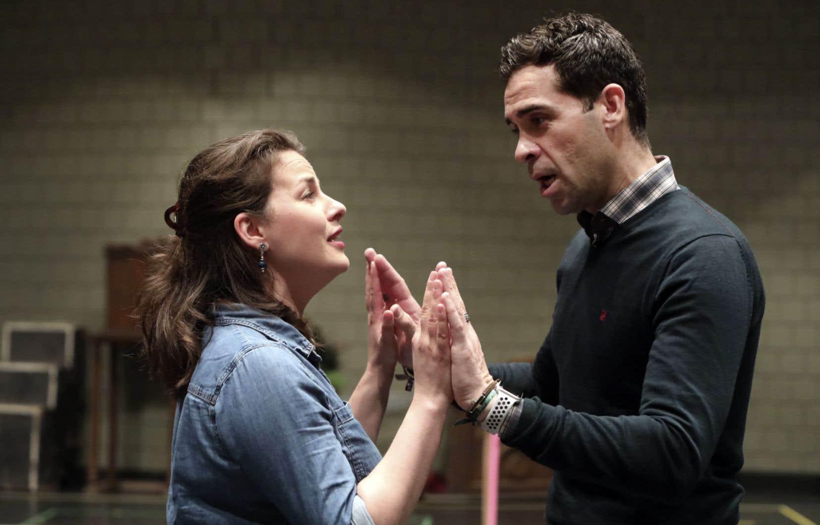 Marie-Ève Munger et Ismael Jordi en répétition cette semaine pour créer l'alchimie parfaite sur scène, samedi prochain