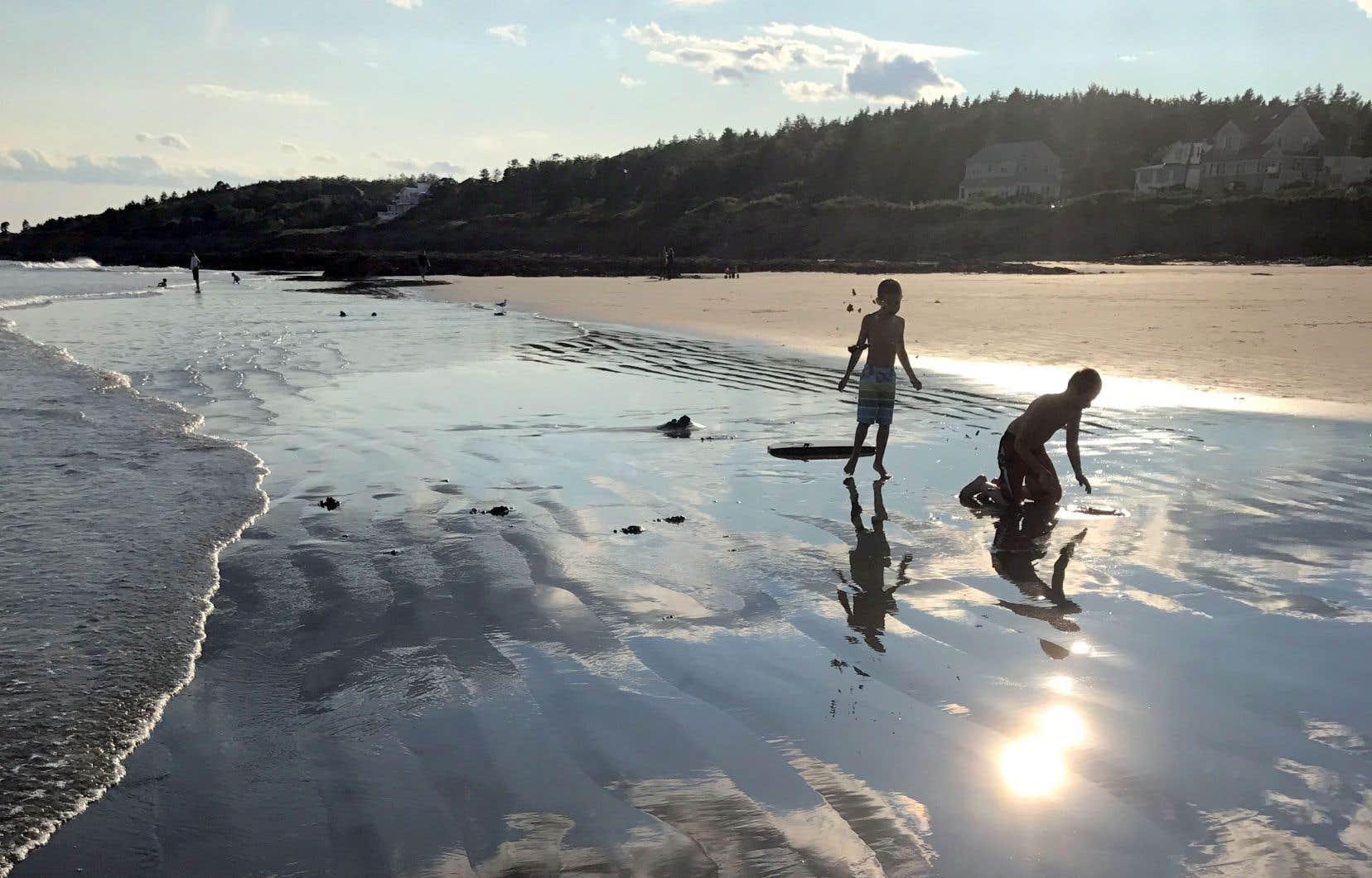 Higgins Beach au coucher du soleil