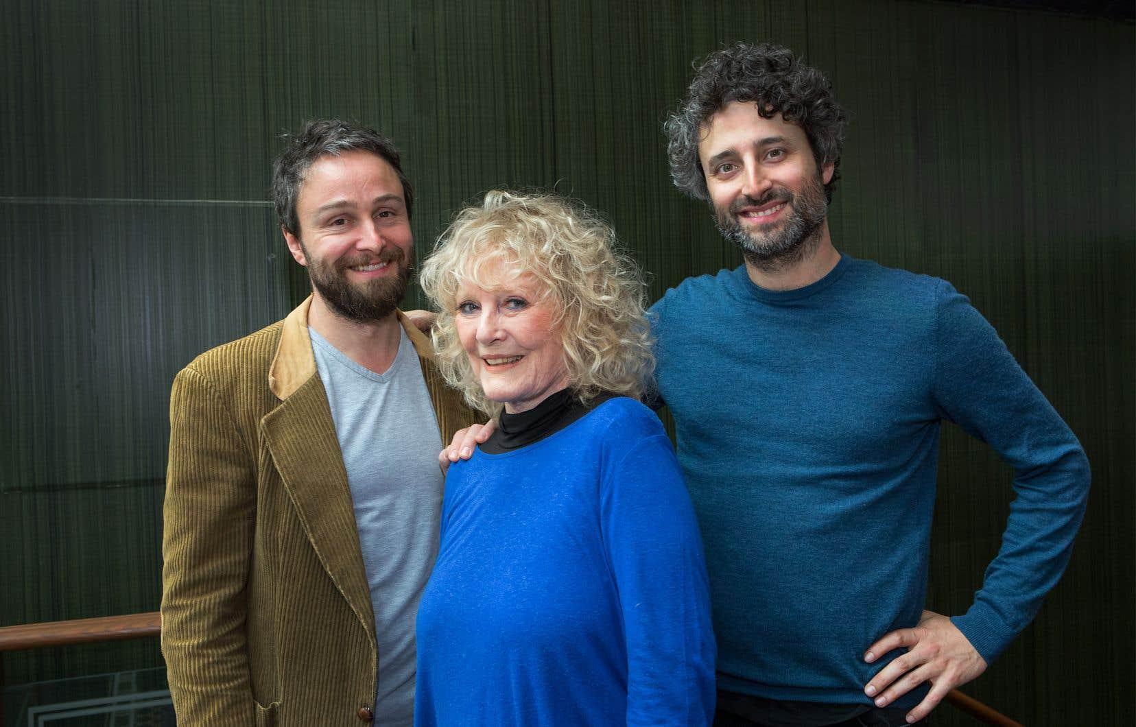 Petula Clark et les réalisateurs québécois de «Vu d'ici», Louis-Jean Cormier et Antoine Gratton