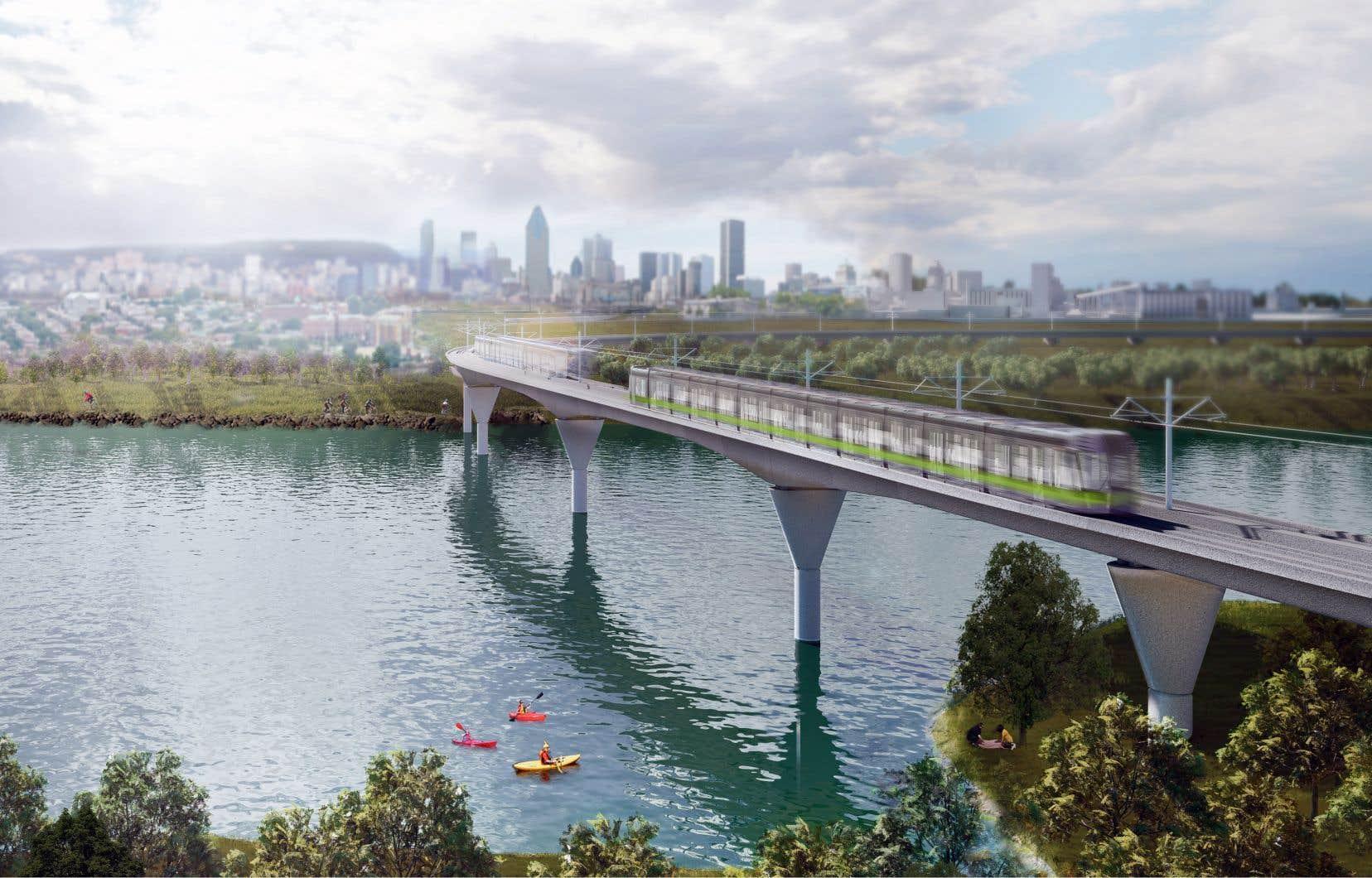 Le chantier du Réseau express métropolitain a été lancé à la fin avril à Montréal et doit entrer en service en 2021.