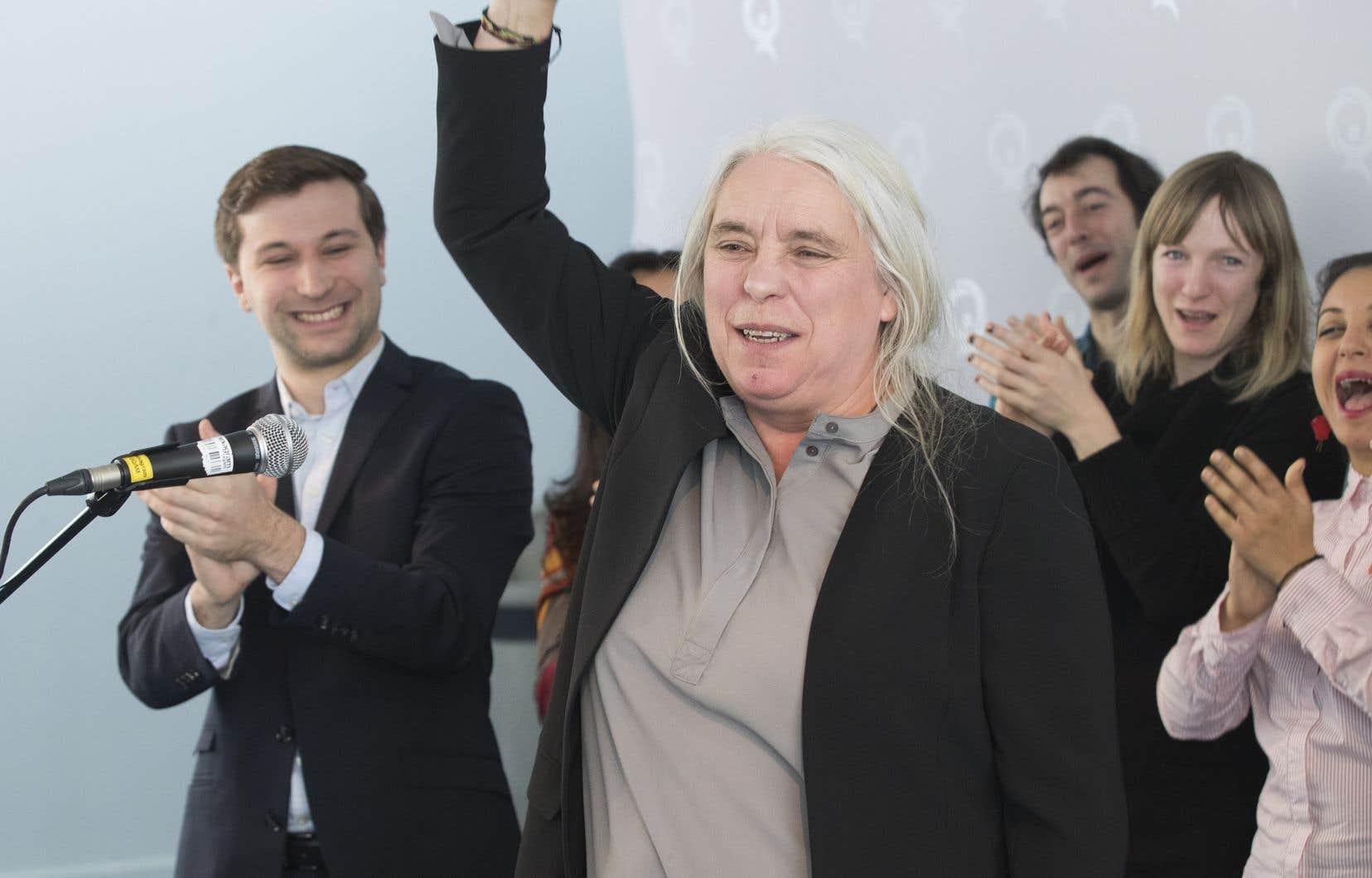 Manon Massé admet qu'elle serait déçue si sa formation n'augmentait pas ses appuis aux prochaines élections.