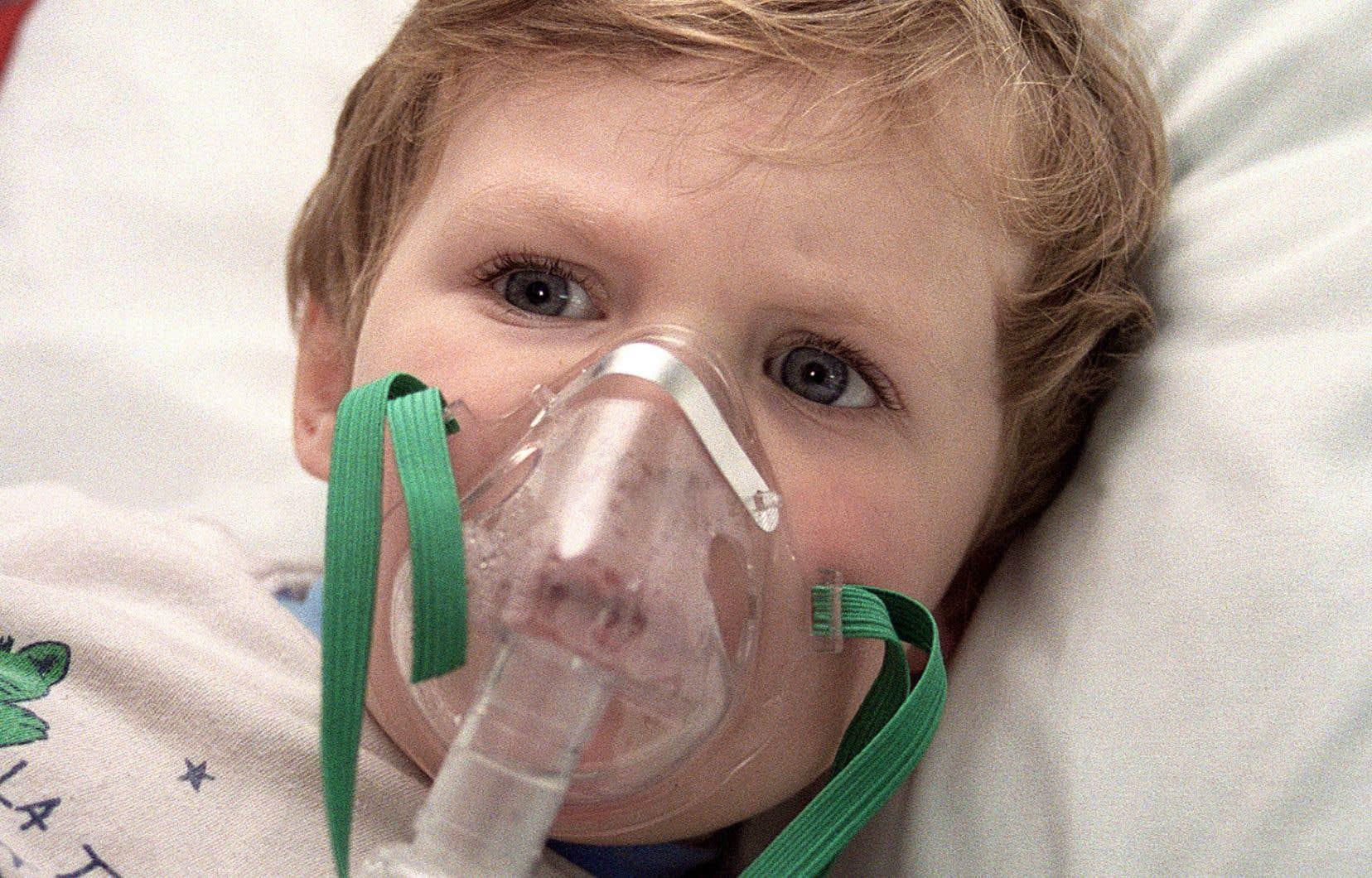 Des problèmes respiratoires peuvent être induits par les changements climatiques.