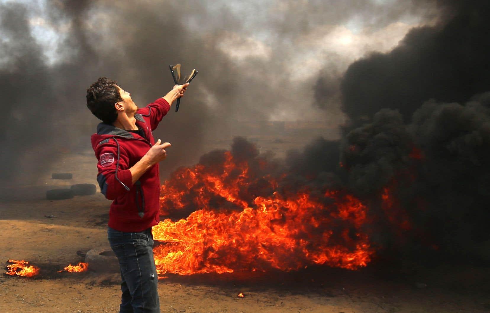 La bande de Gaza est le théâtre de heurts depuis la fin de matinée.