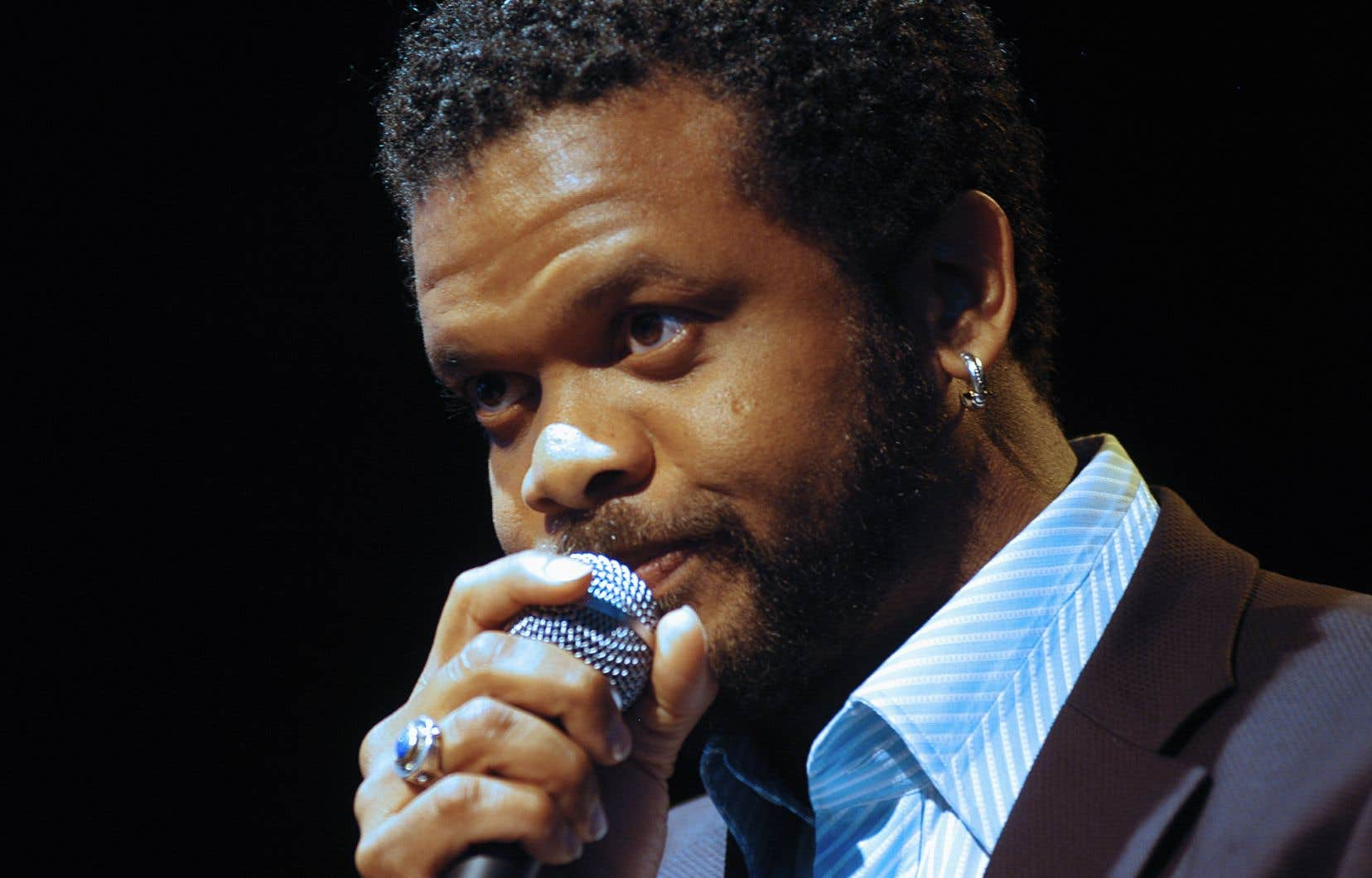 Le chanteur Luck Mervil, en 2006