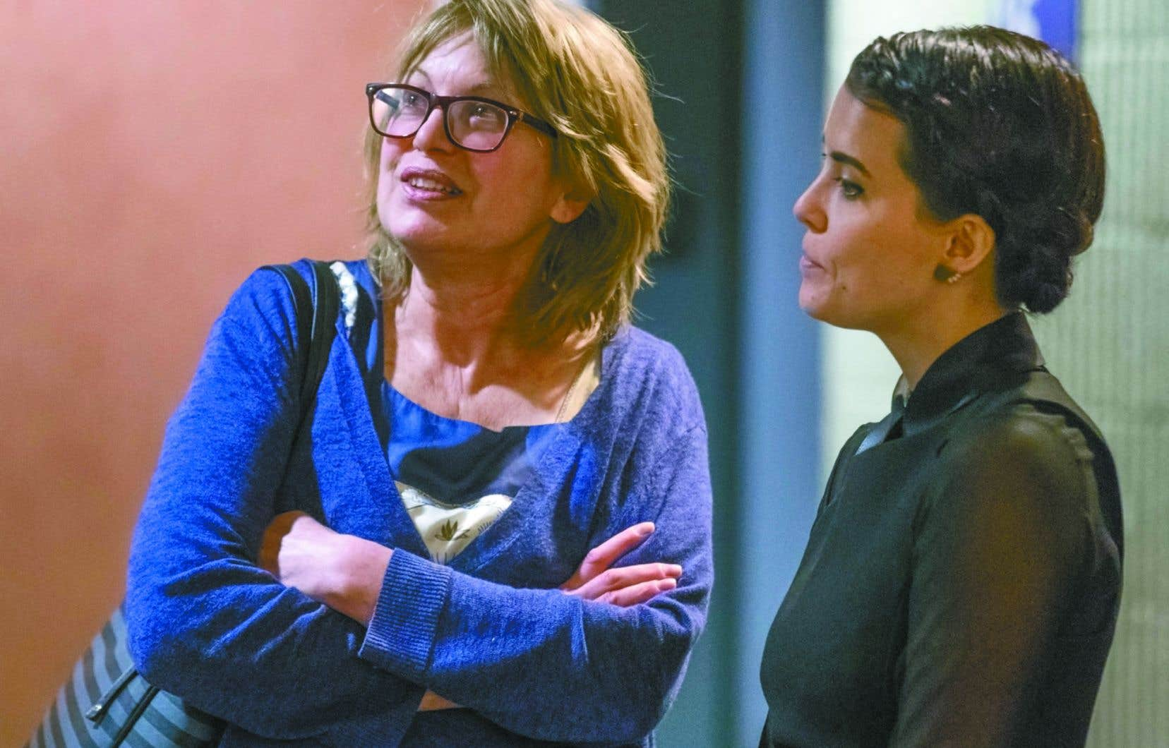 Patricia Tulasne et Geneviève Allard, membres du groupe Les Courageuses