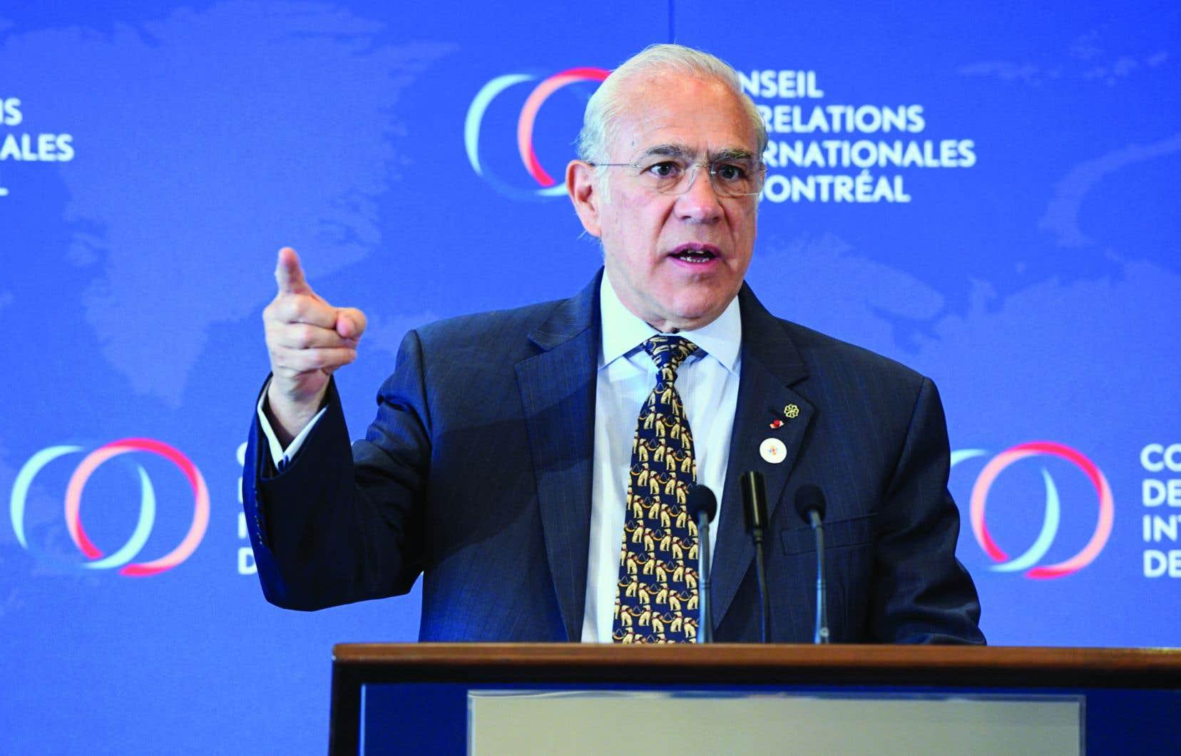 Selon Angel Gurria, on ne peut revenir en arrière sur le multilatéralisme, car la planète est maintenant intrinsèquement interconnectée.