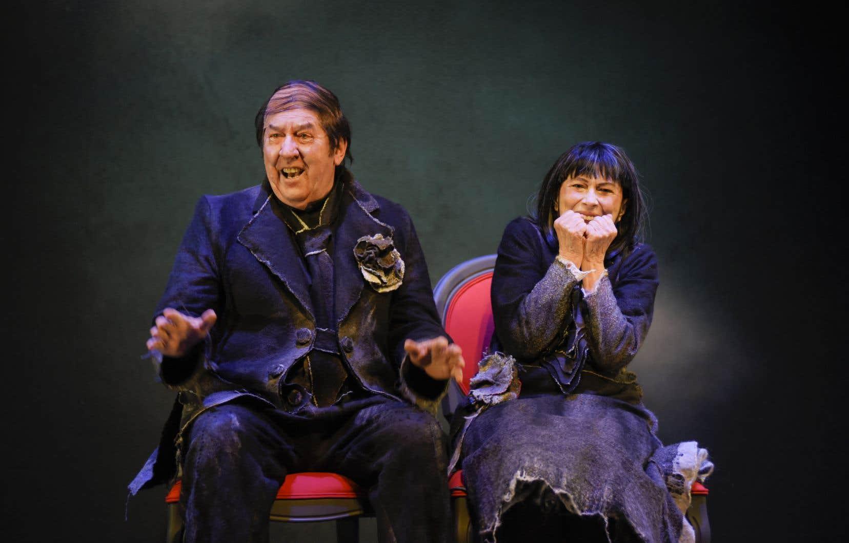 Les acteurs Gilles Renaud et Monique Miller ne ménagent aucun effort, exprimant davantage la farce et la parodie que le vide et la trahison.