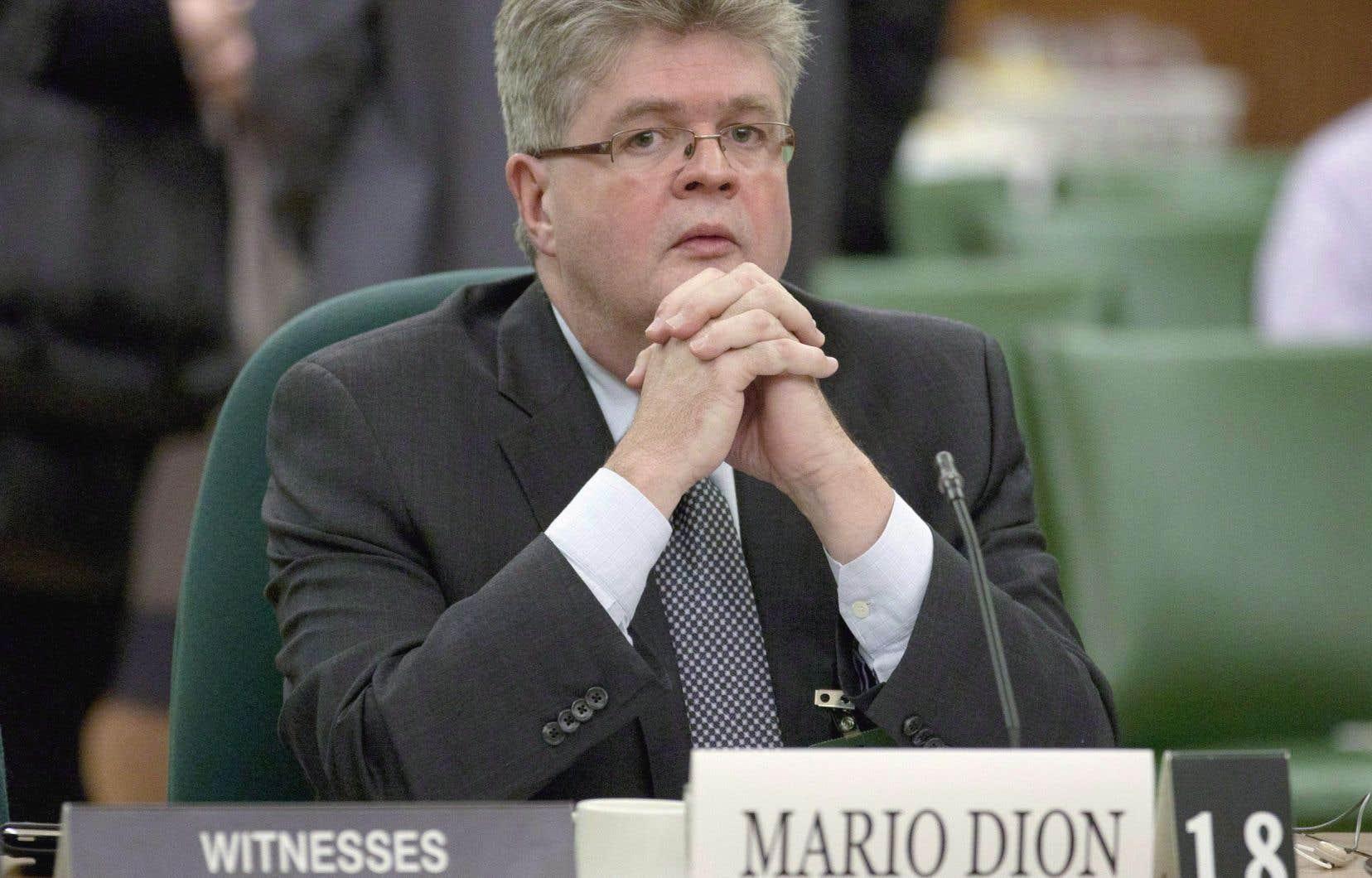 Le commissaire aux conflits d'intérêt et à l'éthique, Mario Dion