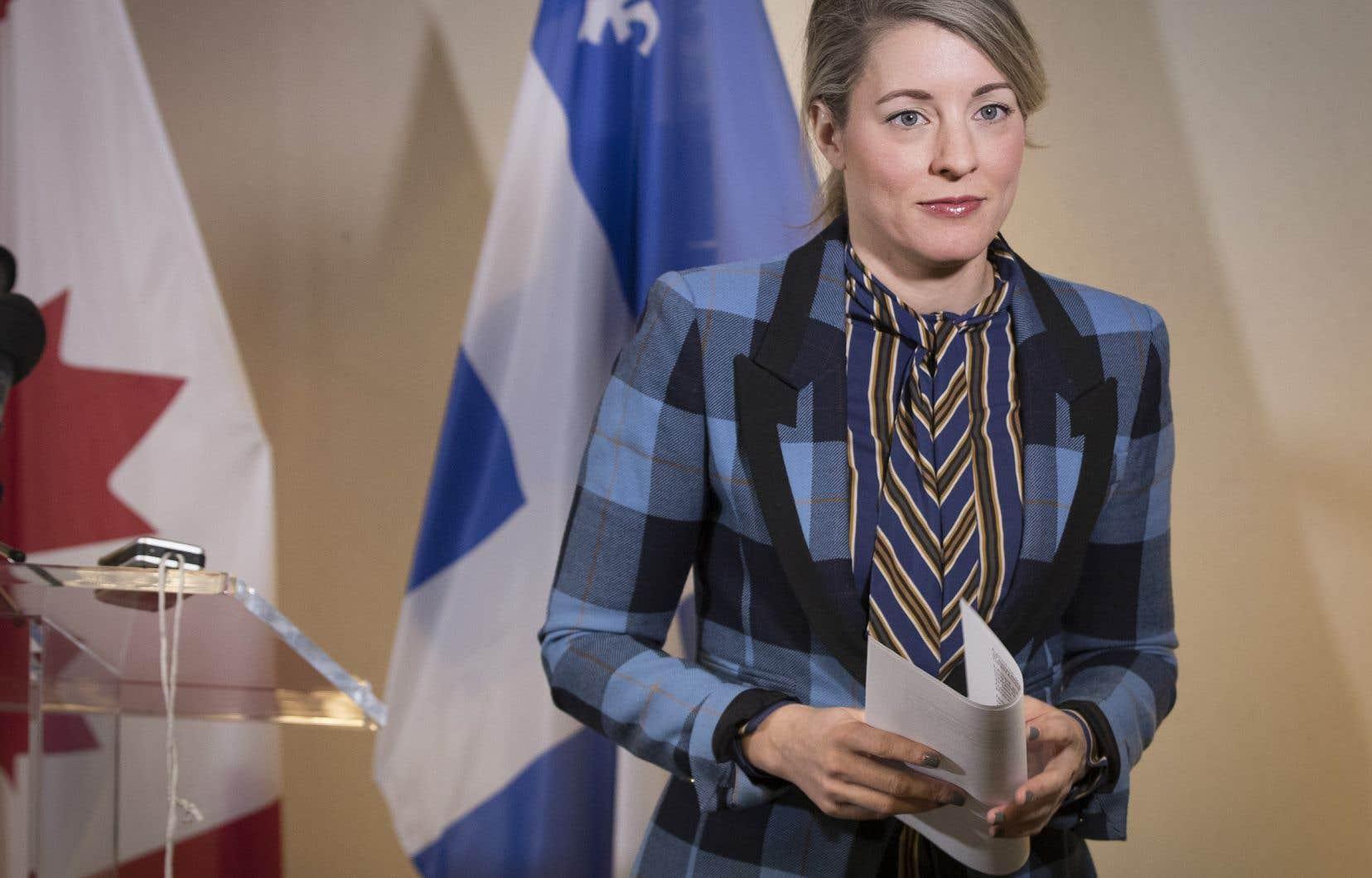 La ministre du Patrimoine canadien et ministre responsable des Langues officielles, Mélanie Joly