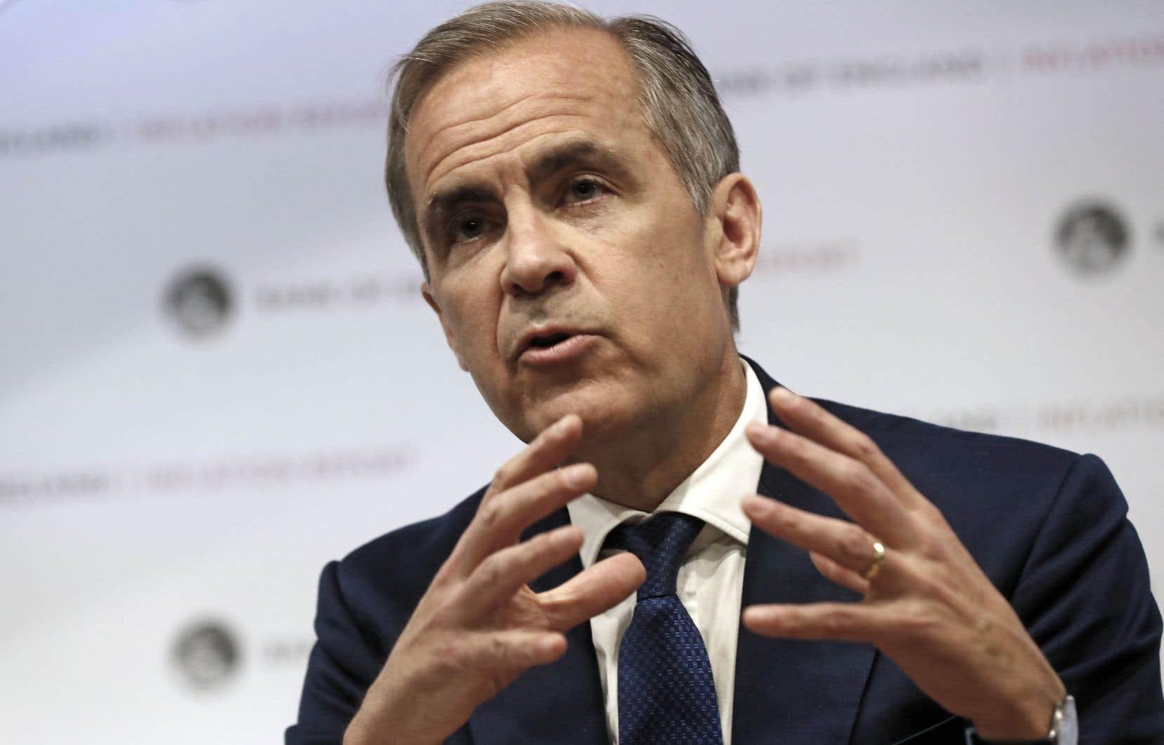 Le gouverneur de la Banque d'Angleterre, Mark Carney