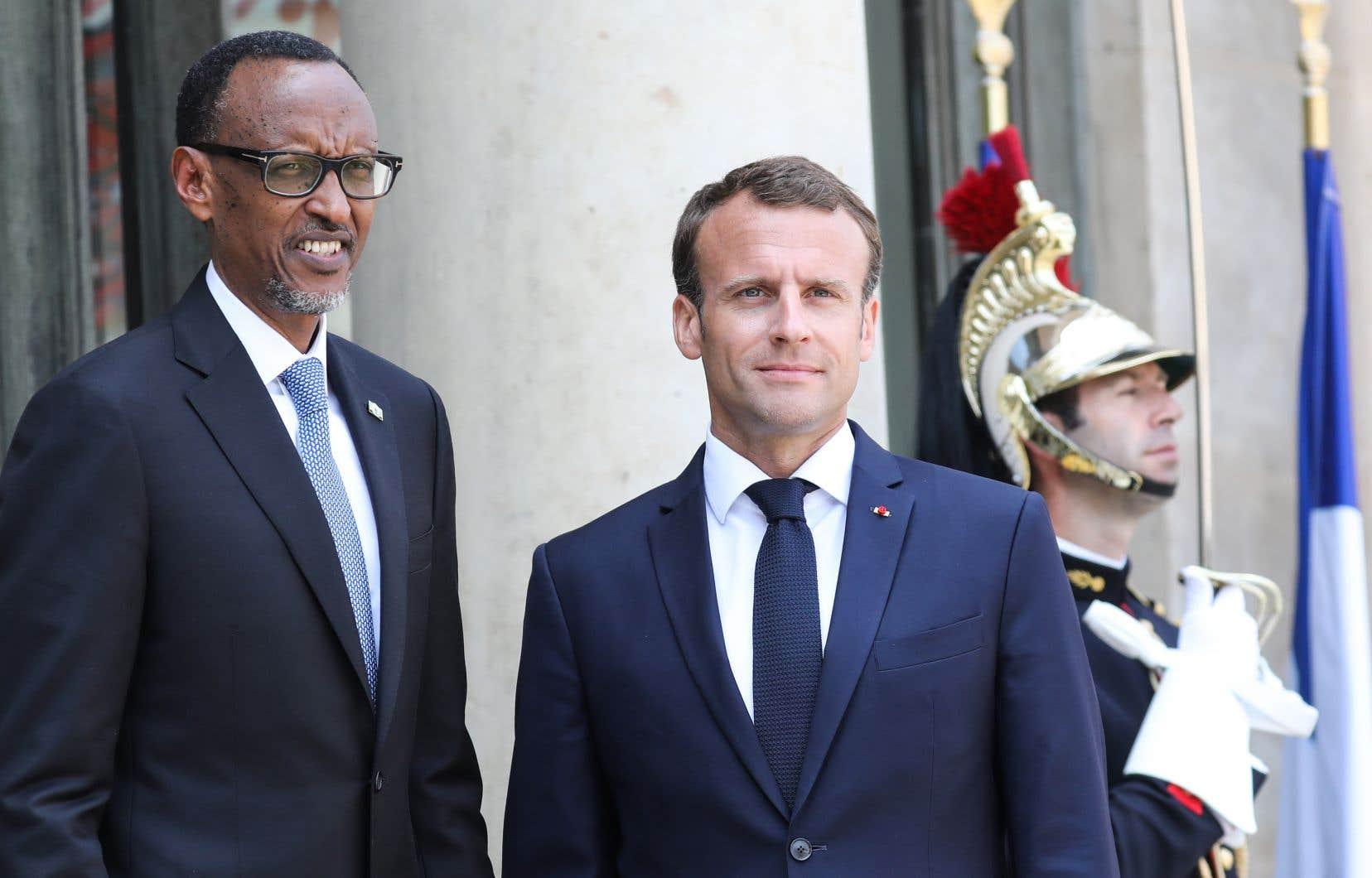 L'annonce d'Emmanuel Macron a été faite à l'issue d'une rencontre avec le président rwandais, Paul Kagame.