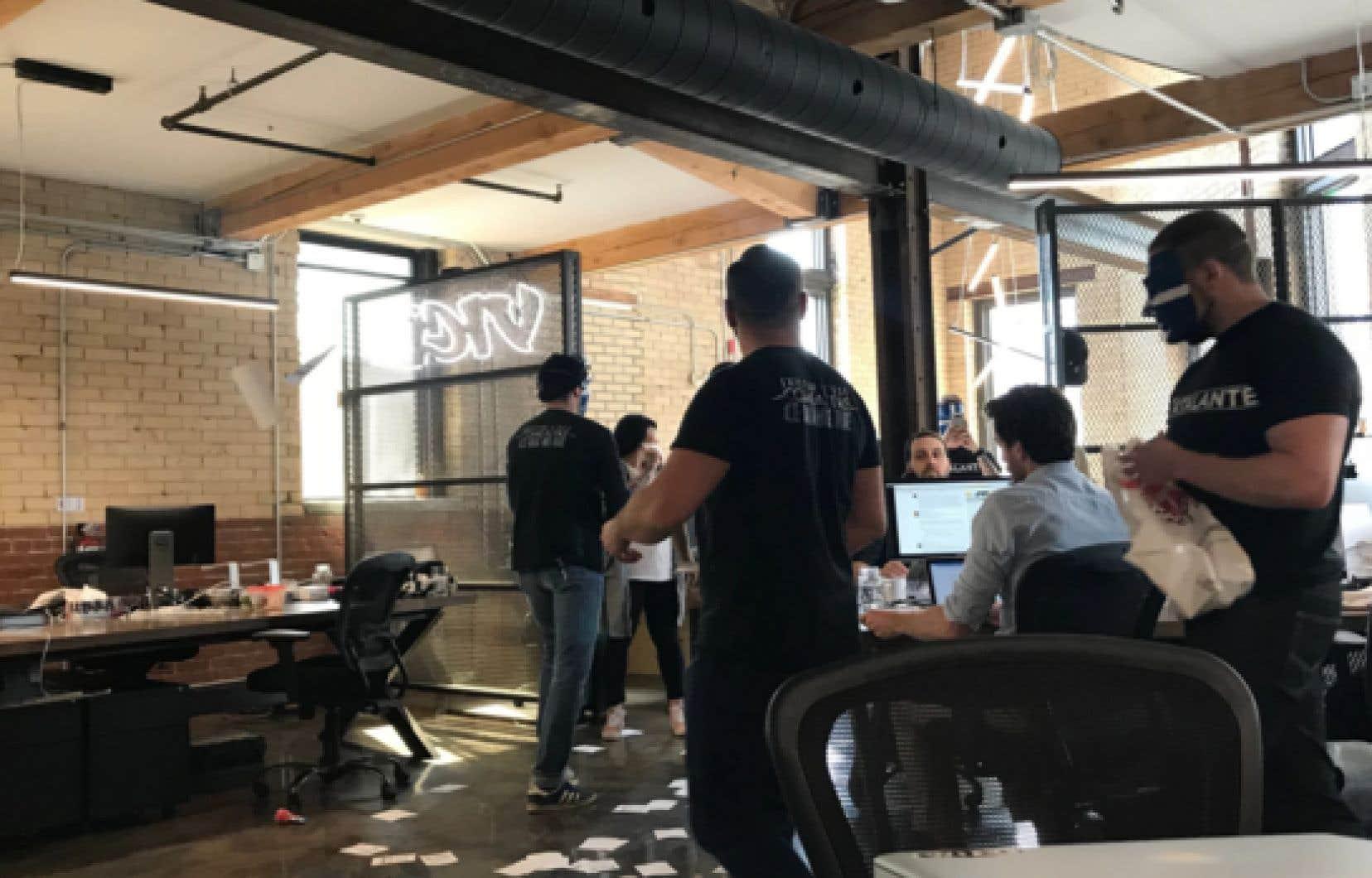 Il s'agit du premier incident du genre dans les bureaux de Vice à Montréal.