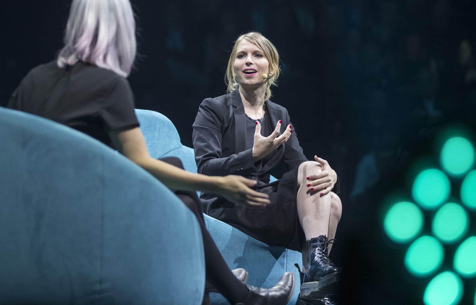 Chelsea Manning, l'ancienne informatrice de WikiLeaks, était de passage à la conférence C2 Montréal.