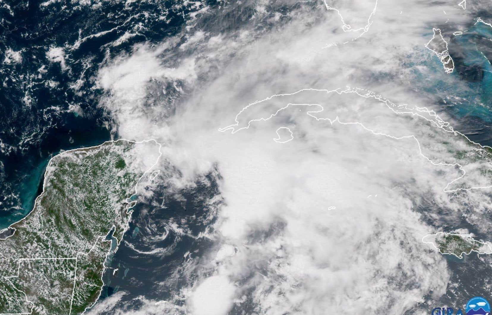 <em>Alberto</em> s'est formé à 90 km au sud de Cozumel, dans la péninsule mexicaine du Yucatan.