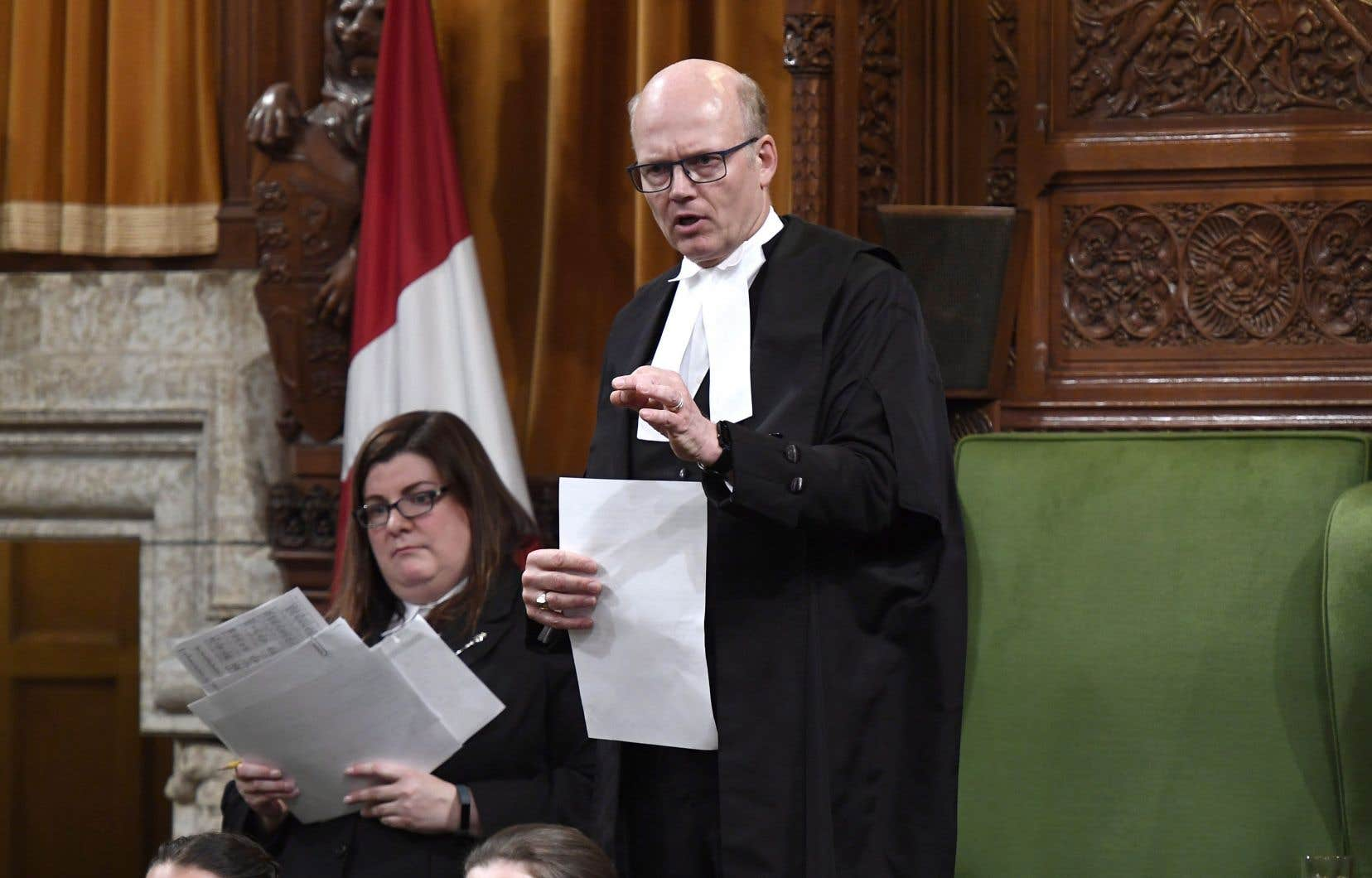 Le président de la Chambre des communes, Geoff Regan