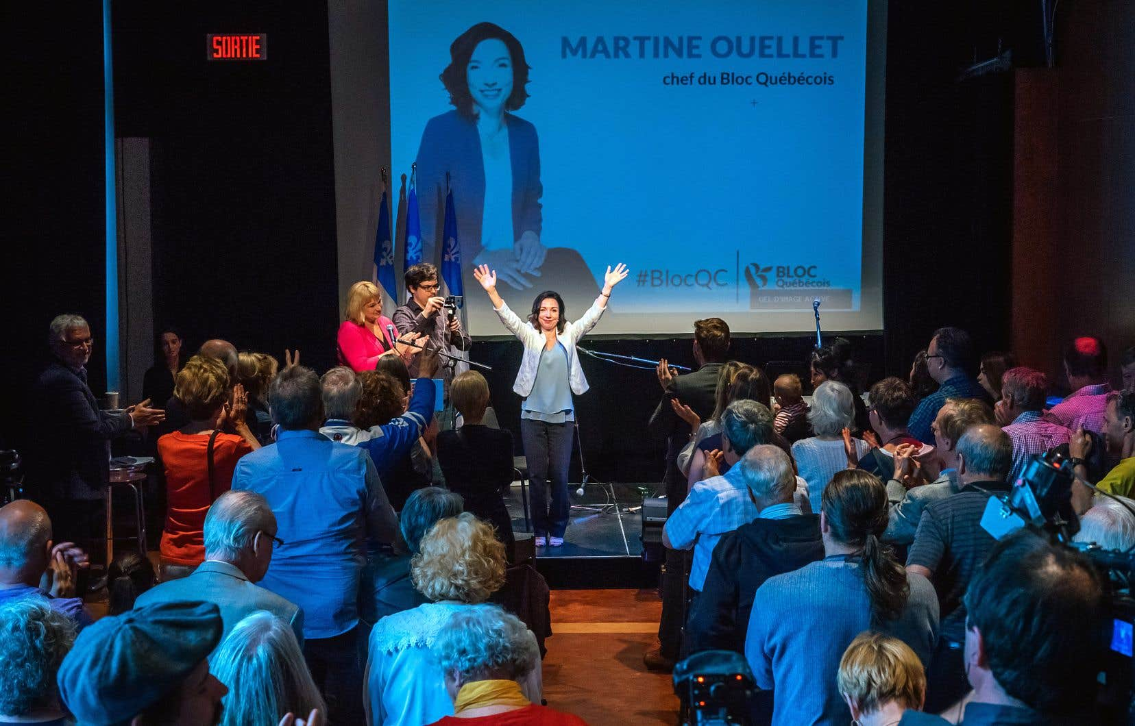 Lors d'un discours d'une trentaine de minutes, Martine Ouellet a notamment affirmé qu'il ne faut pas avoir peur de parler d'indépendance dans l'espace public.