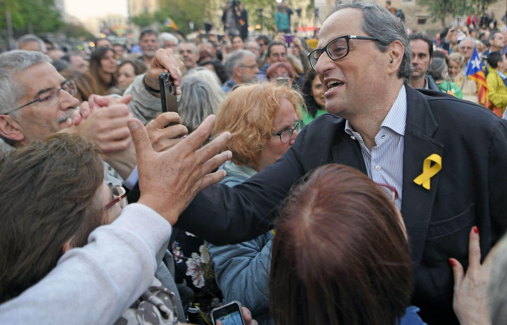 Quim Torra a été élu à la mi-mai à la tête de la région catalane.