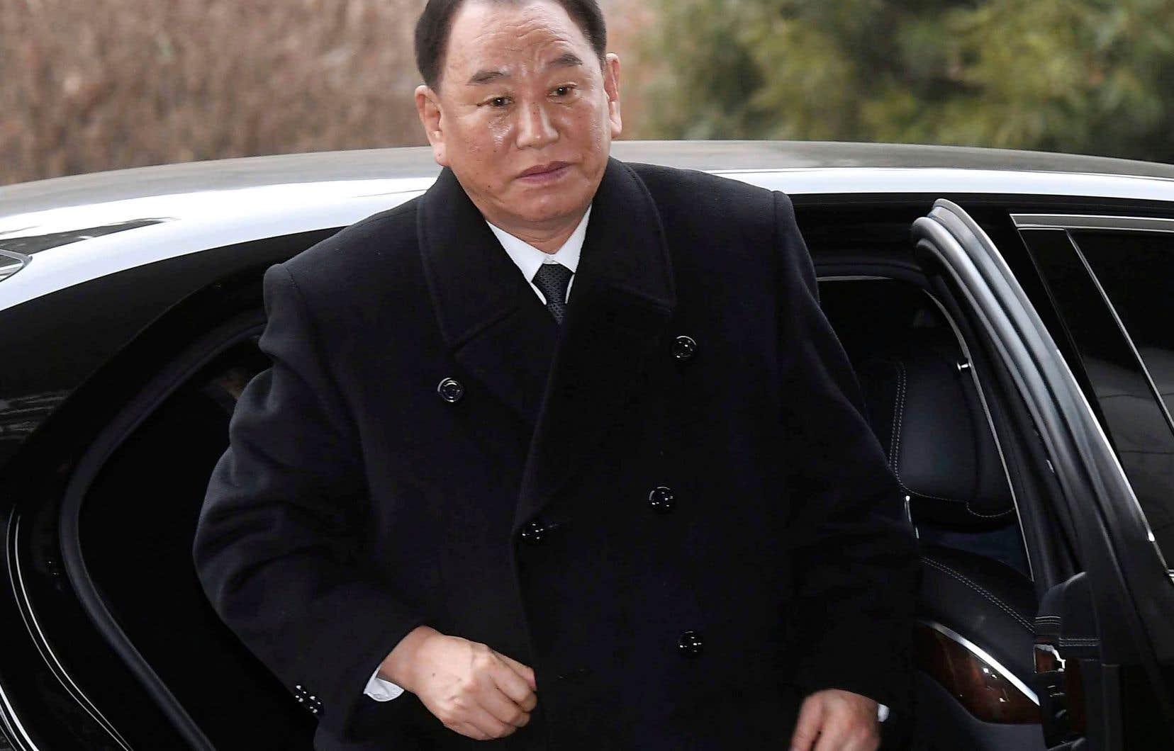 Le général Kim Yong-chol, bras droit du leader nord-coréen, Kim Jong-un, en février dernier