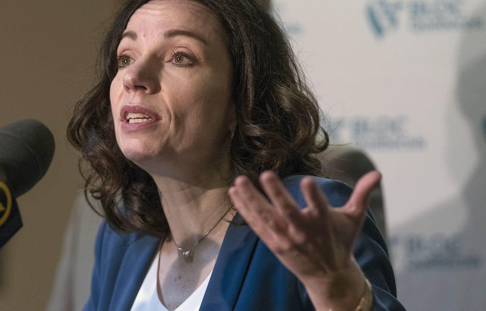 Martine Ouellet dit espérer que dimanche soir toutes ces guerres intestines seront derrière elle.