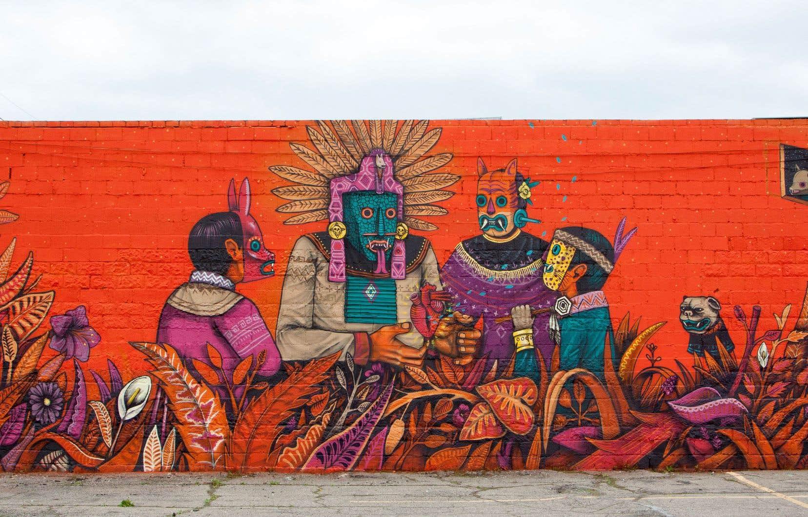 Edgar Flores, alias Saner, décore les murs depuis plus de 20ans.
