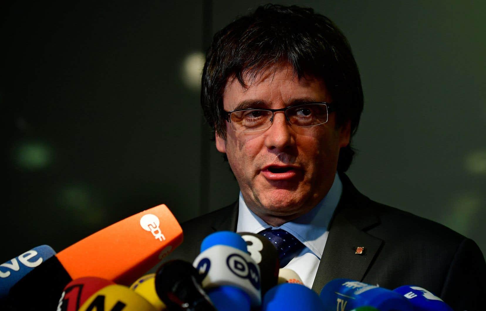 Carles Puigdemont, arrêté fin mars dans le nord de l'Allemagne, s'est installé depuis sa remise en liberté à Berlin.