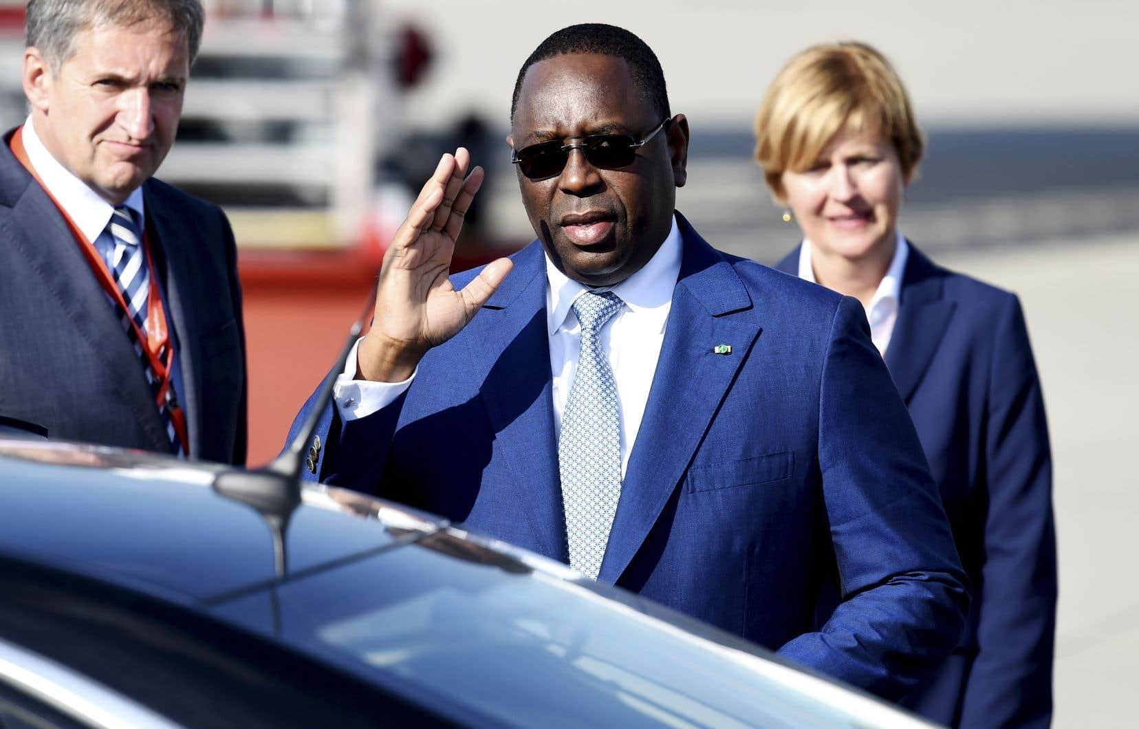 Le président du Sénégal, Macky Sall, le 6 juin 2017 lors des rencontres du G20 en Allemagne.
