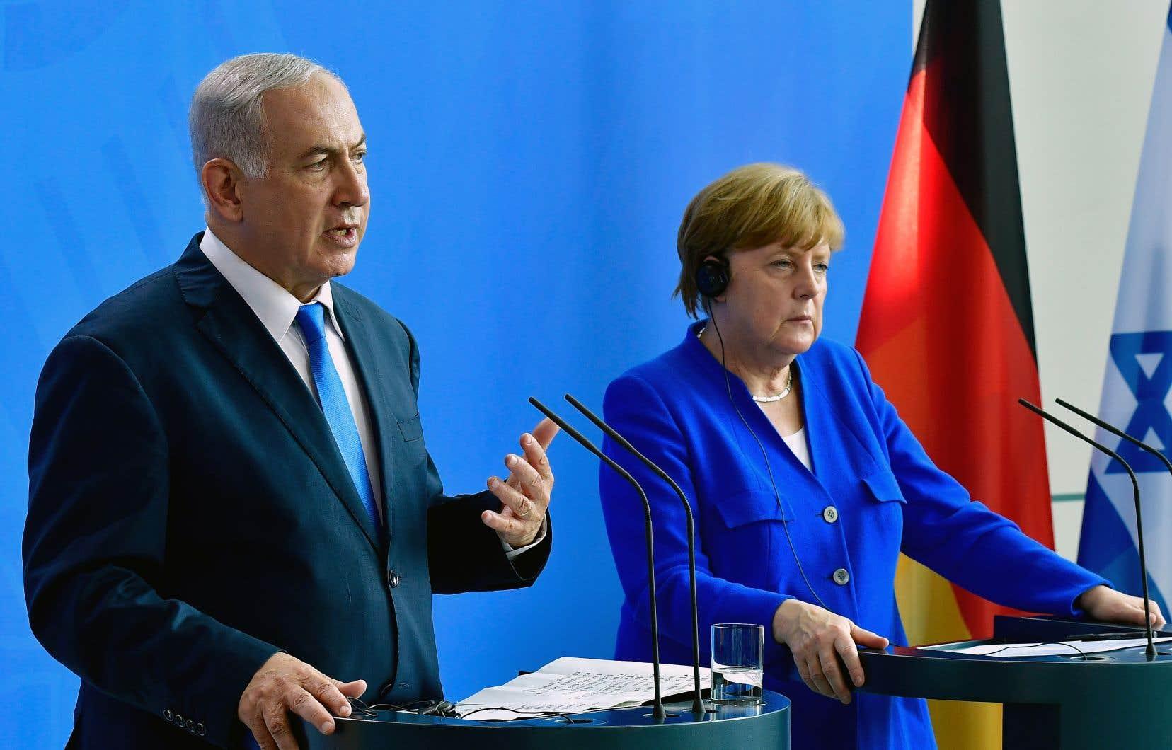 Le chef du gouvernement israélien,Benjamin Nétanyahou, entamait lundi à Berlin une tournée européenne qui le mènera ensuite à Paris et à Londres.