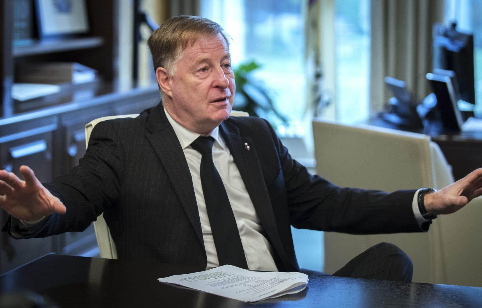 Le maire Marc Demers a été reporté au pouvoir en novembre dernier.