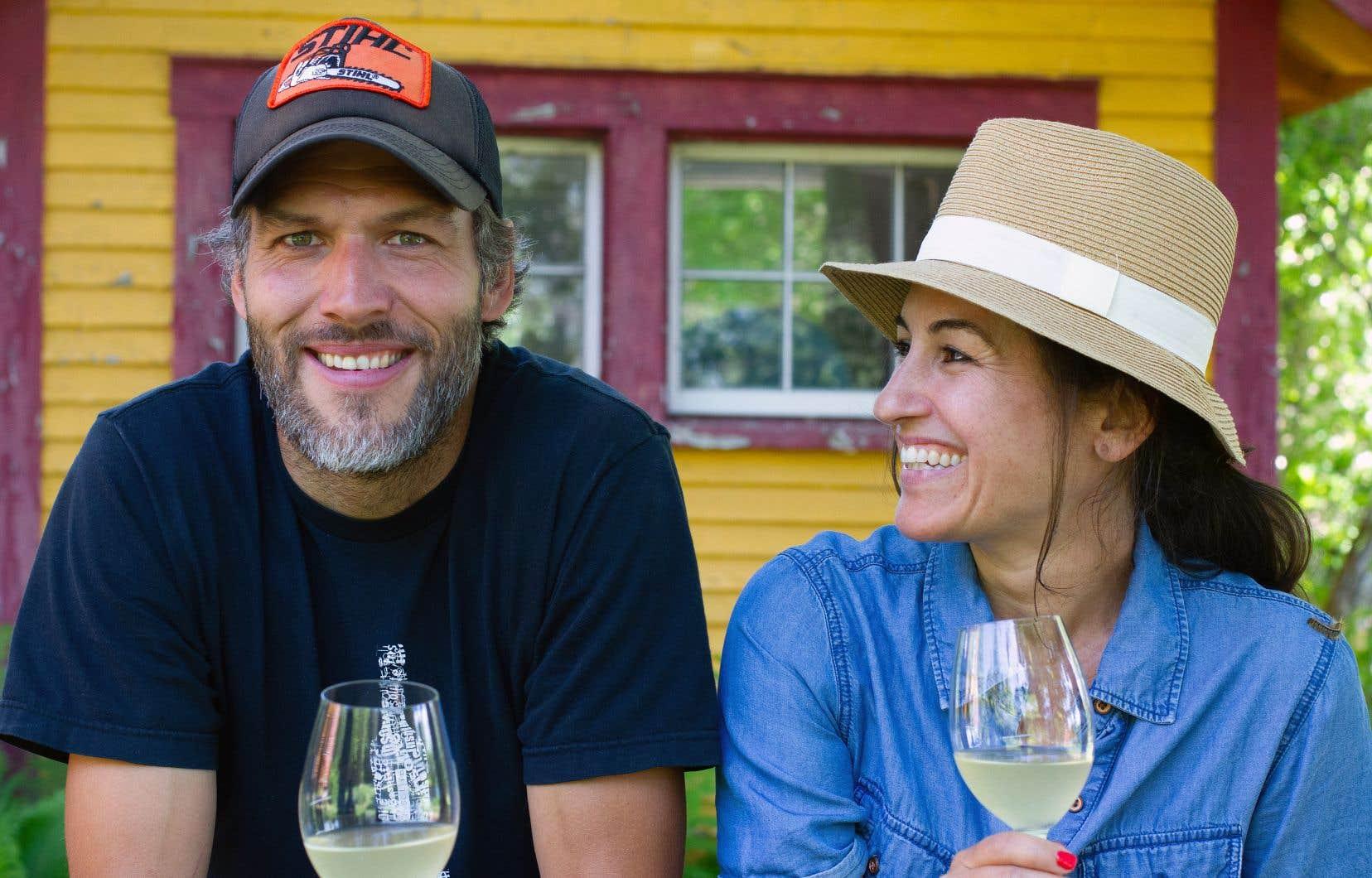 Frédéric Simon et son amoureuse, Catherine Bélanger