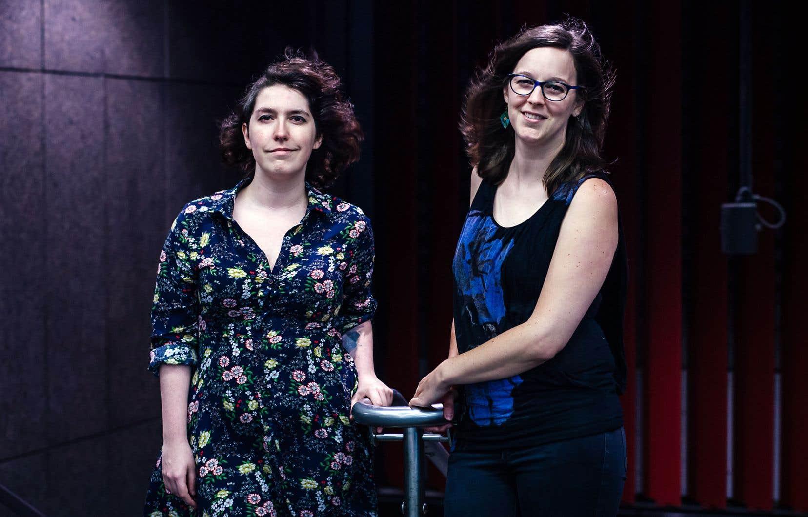 Marie Ayotte et Andrée-Anne Giguère, respectivement auteure et interprète de «Planétarium», qui sera jouée dans le cadre du Fringe