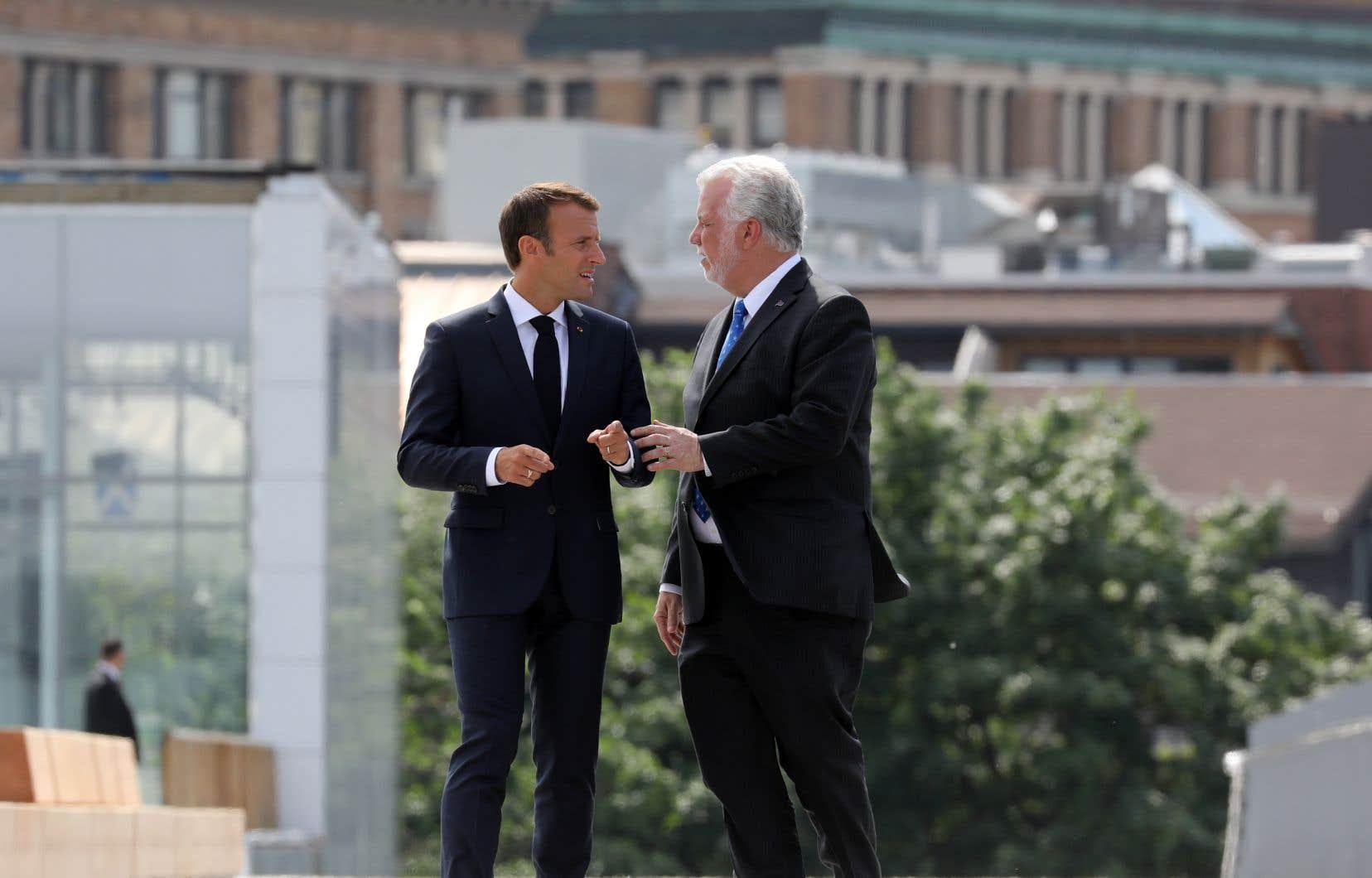 Avant de se rendre au G7 à La Malbaie, Emmanuel Macron a fait une escale à Montréal.