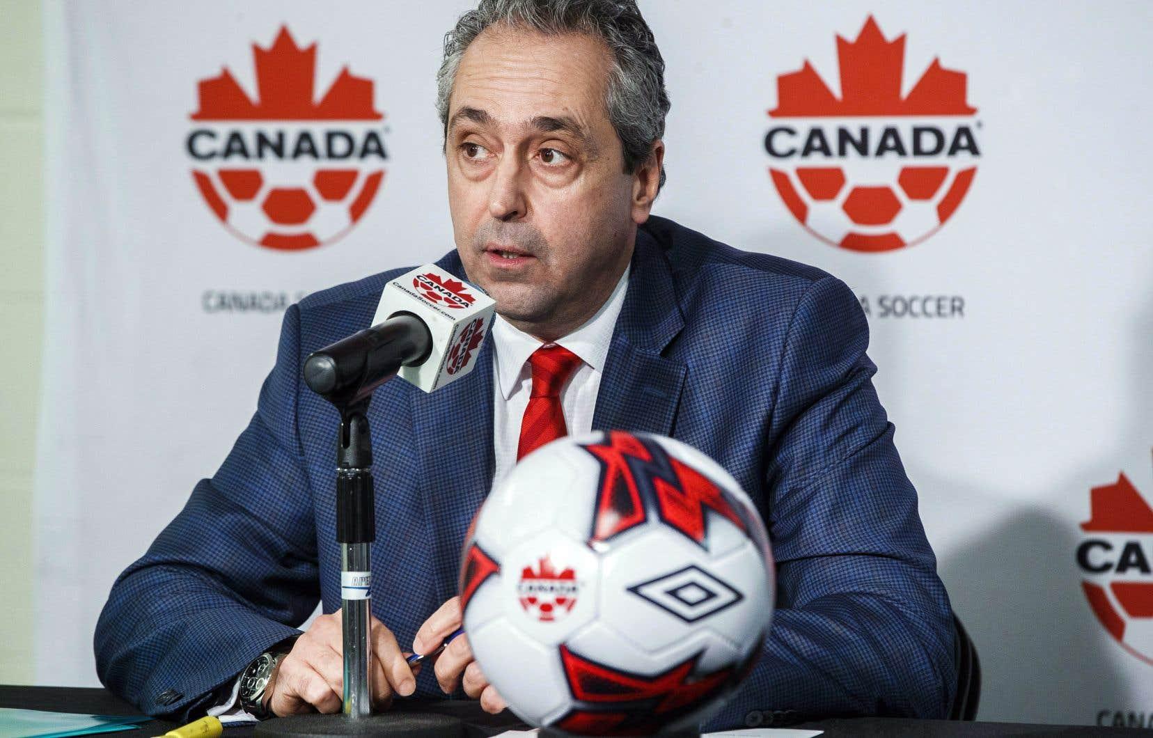 Le secrétaire général de l'Association canadienne de soccer, Peter Montopoli