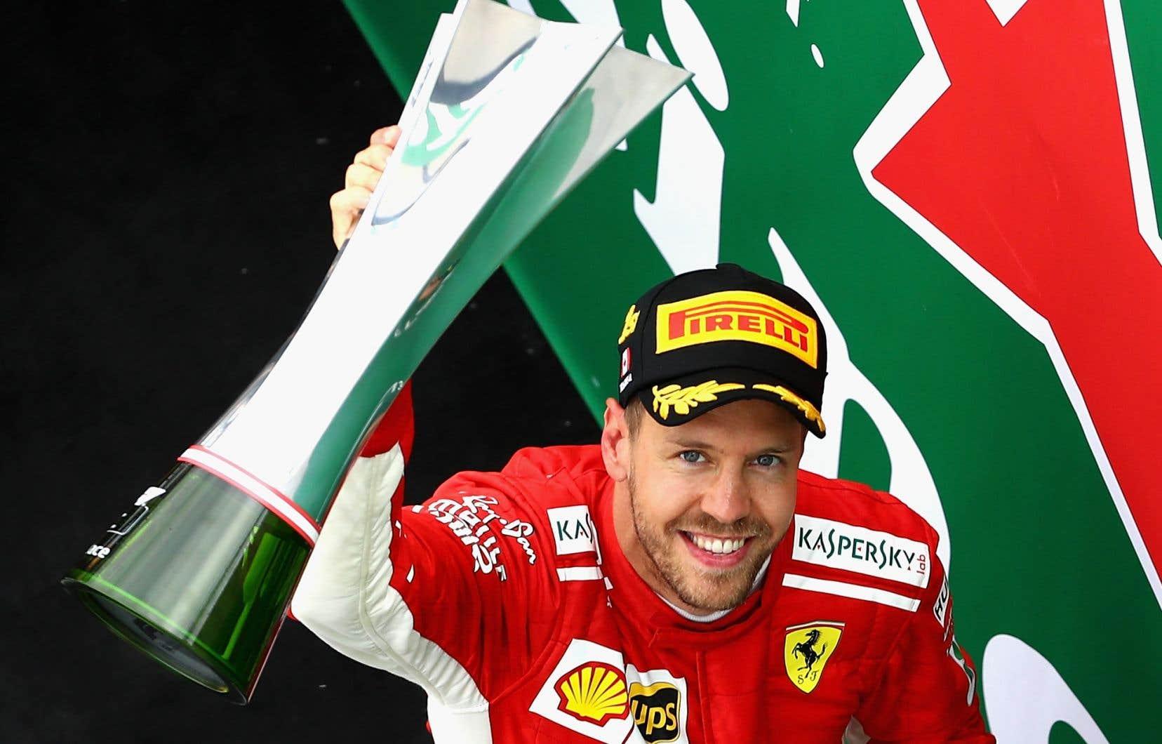 Le pilote allemand Sebastian Vettal a pris la tête du Championnat des pilote de Formule 1.