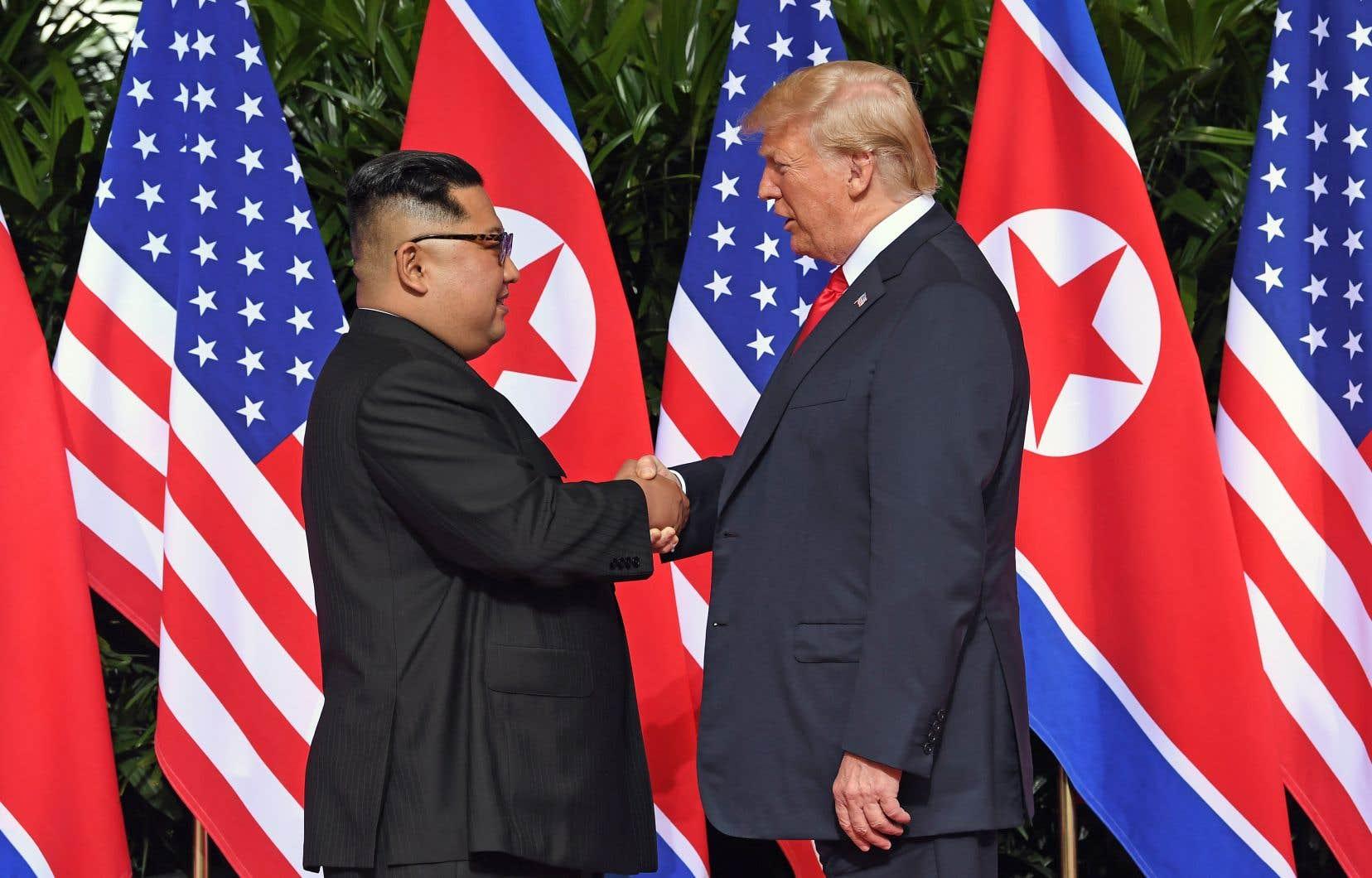 Le dirigeant nord-coréen Kim Jong-un et le président américain, Donald Trump