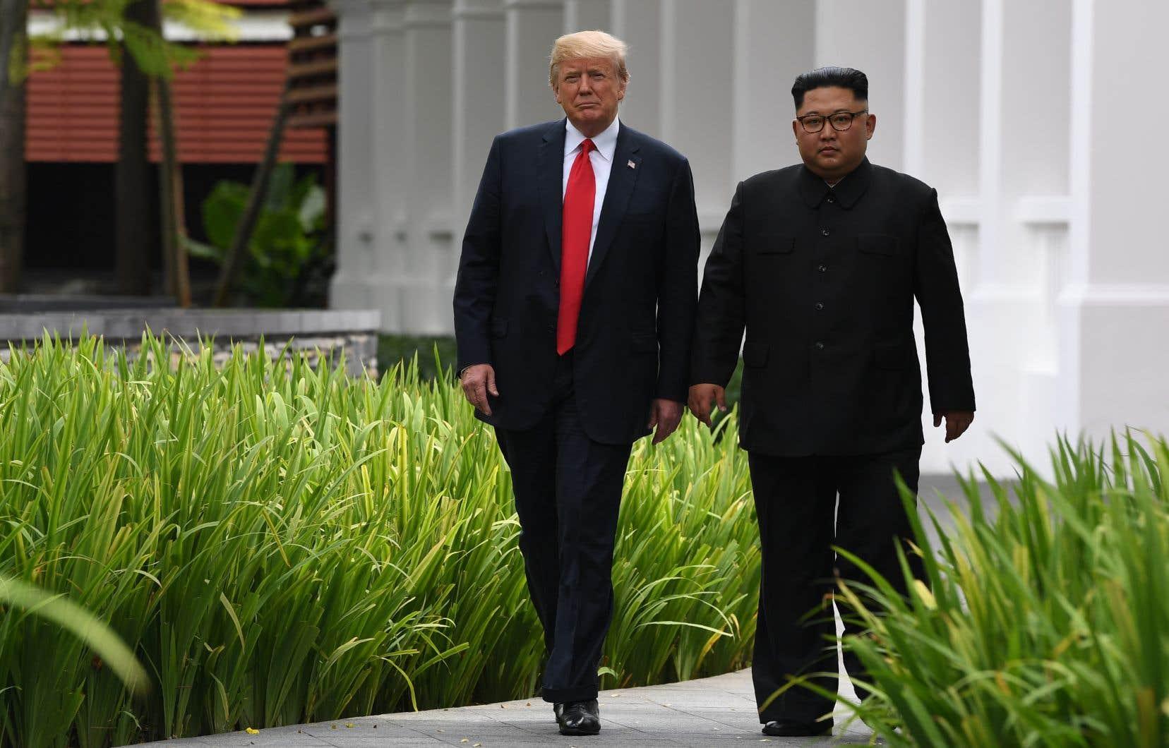 Le président américain, Donald Trump, et le dirigeant nord-coréen Kim Jong-un